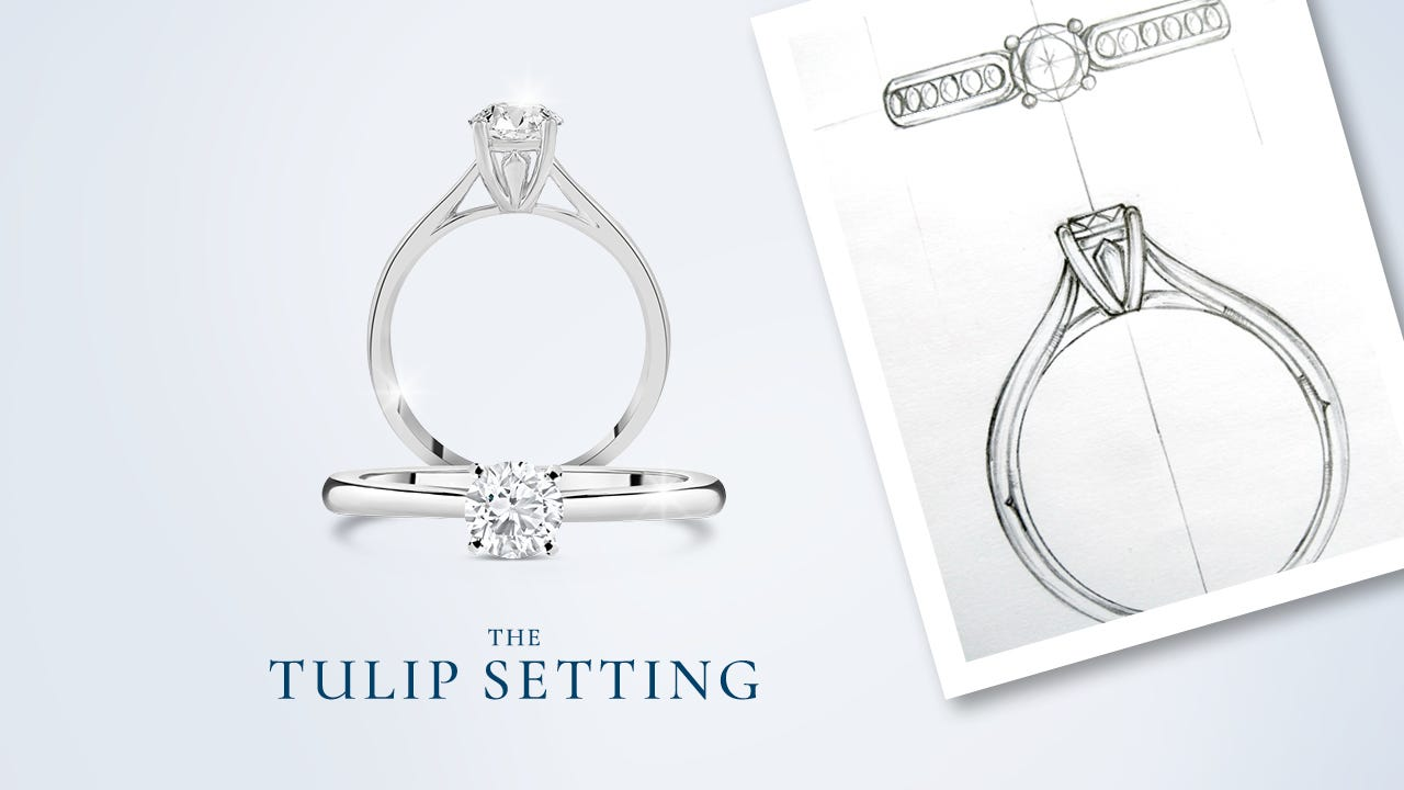 """An image of the Tulip Setting mocked up with the title """"Tulip Setting"""""""
