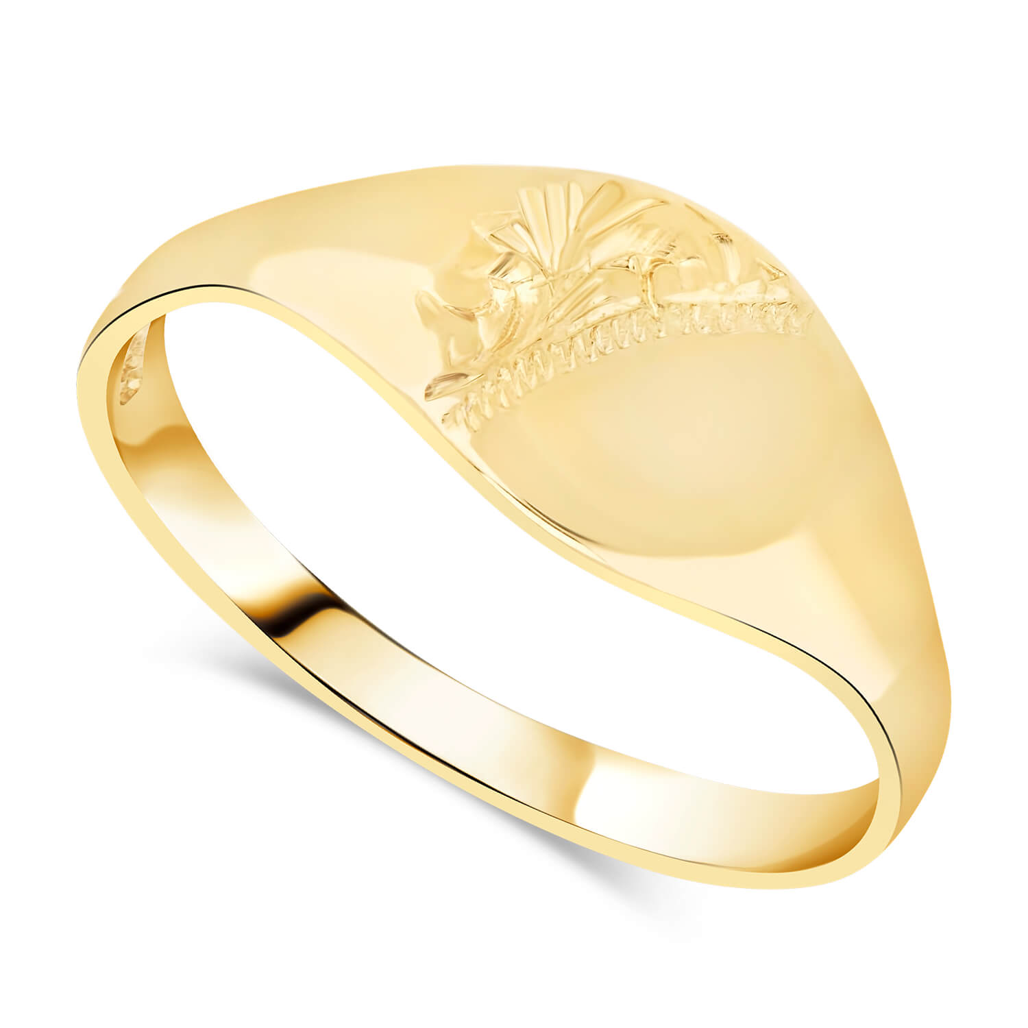 Girl's 9ct gold signet ring