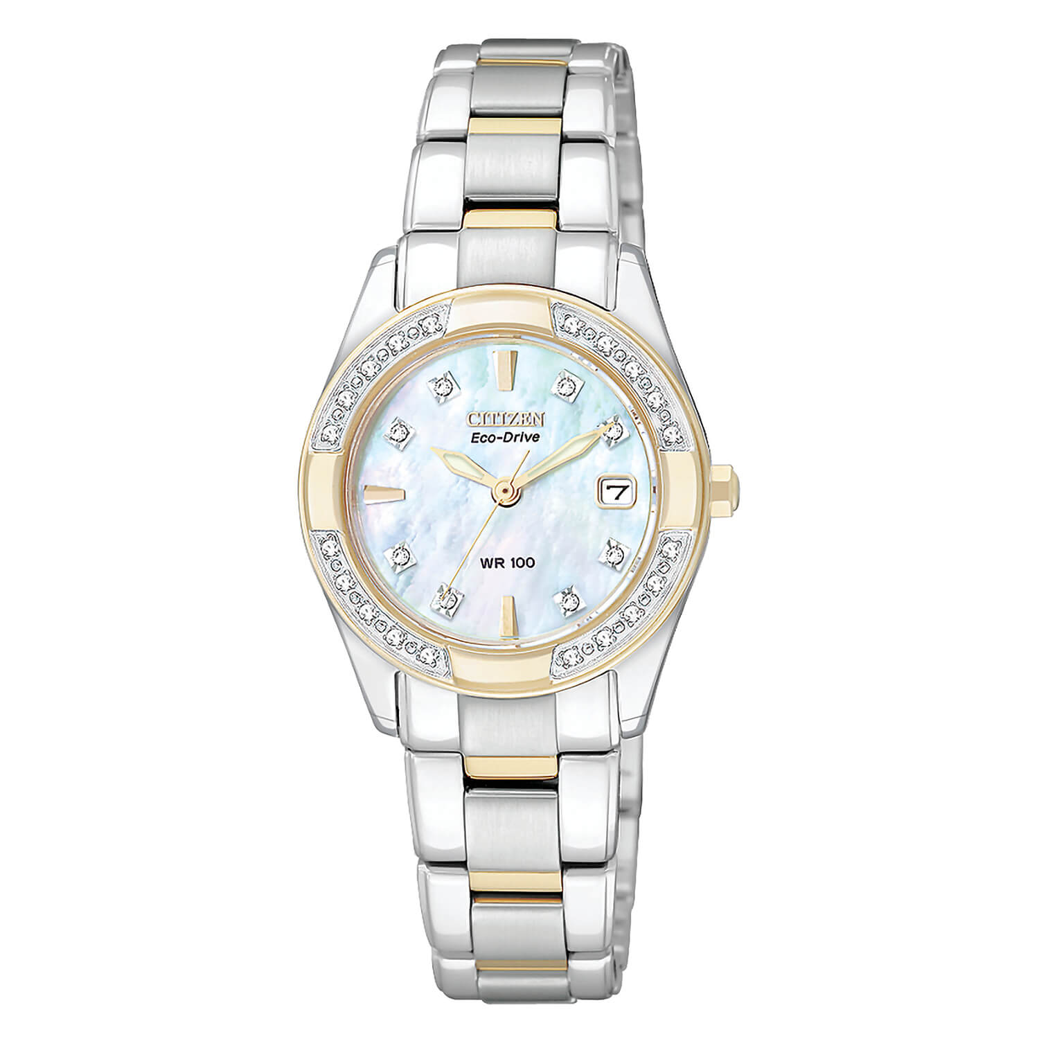 Citizen Eco-Drive Regent Mother of Pearl with Two-Tone Bracelet