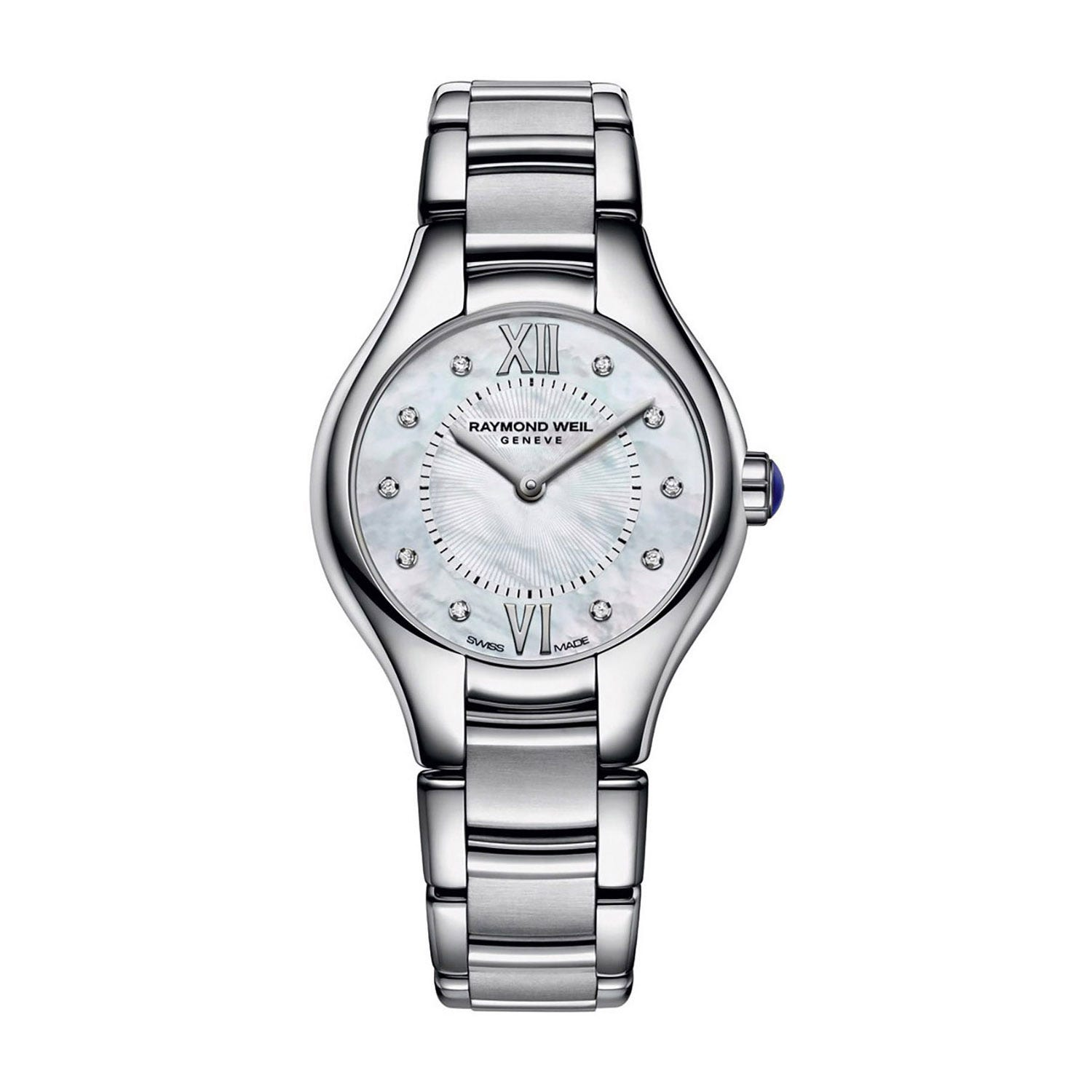 Raymond Weil Noemia ladies' diamond dot mother of pearl dial stainless steel bracelet watch
