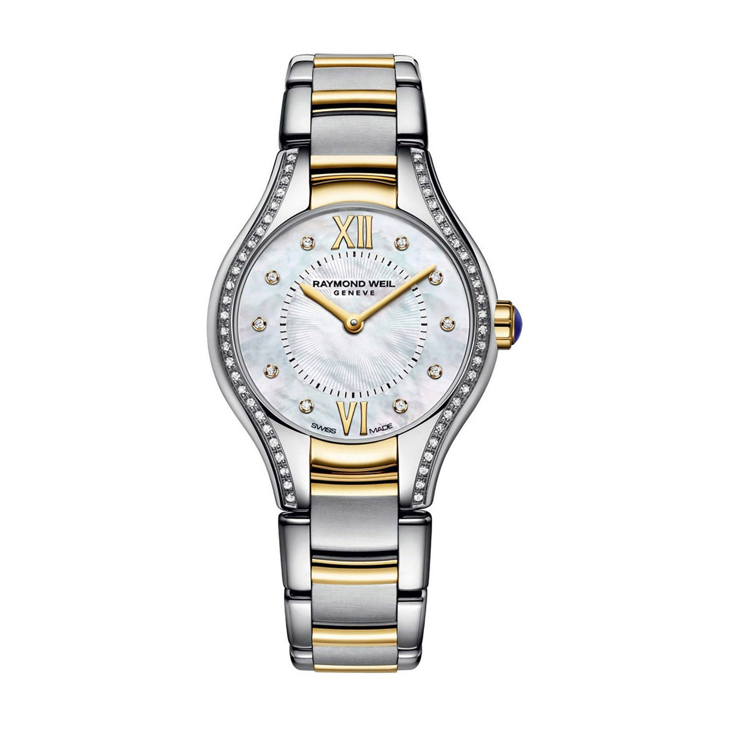 Raymond Weil Noemia ladies' diamond-set mother of pearl dial two-tone bracelet watch
