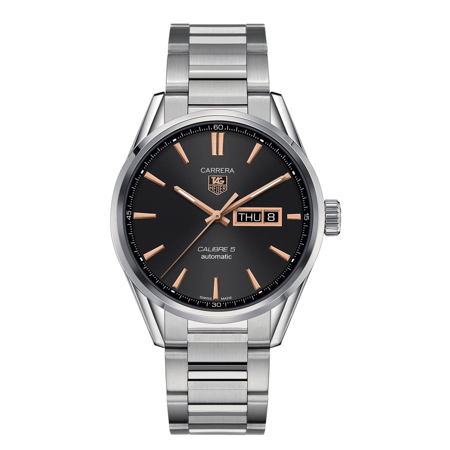TAG Heuer Carrera Day-Date Automatic men's stainless steel bracelet watch