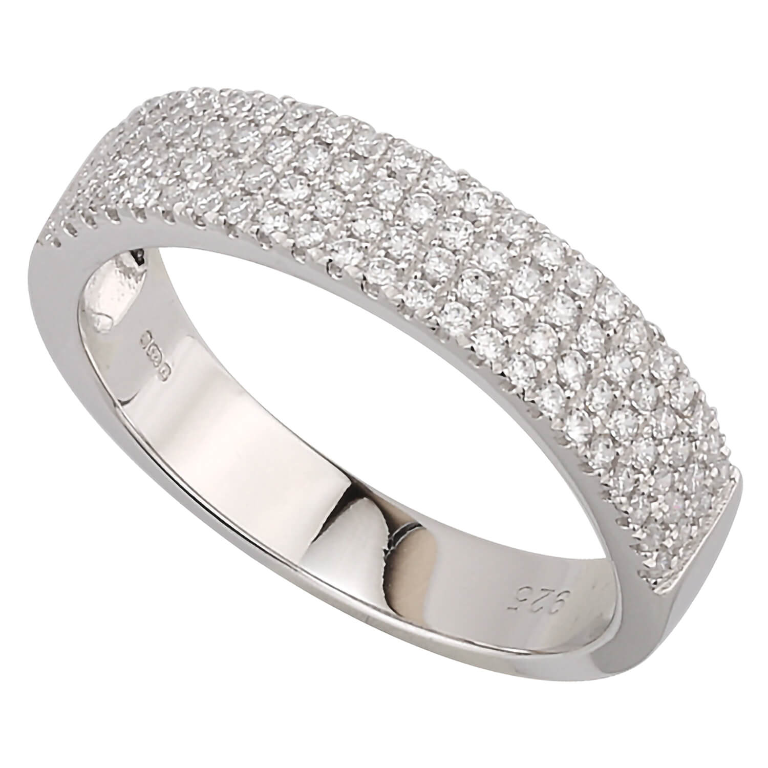 Silver cubic zirconia dress ring