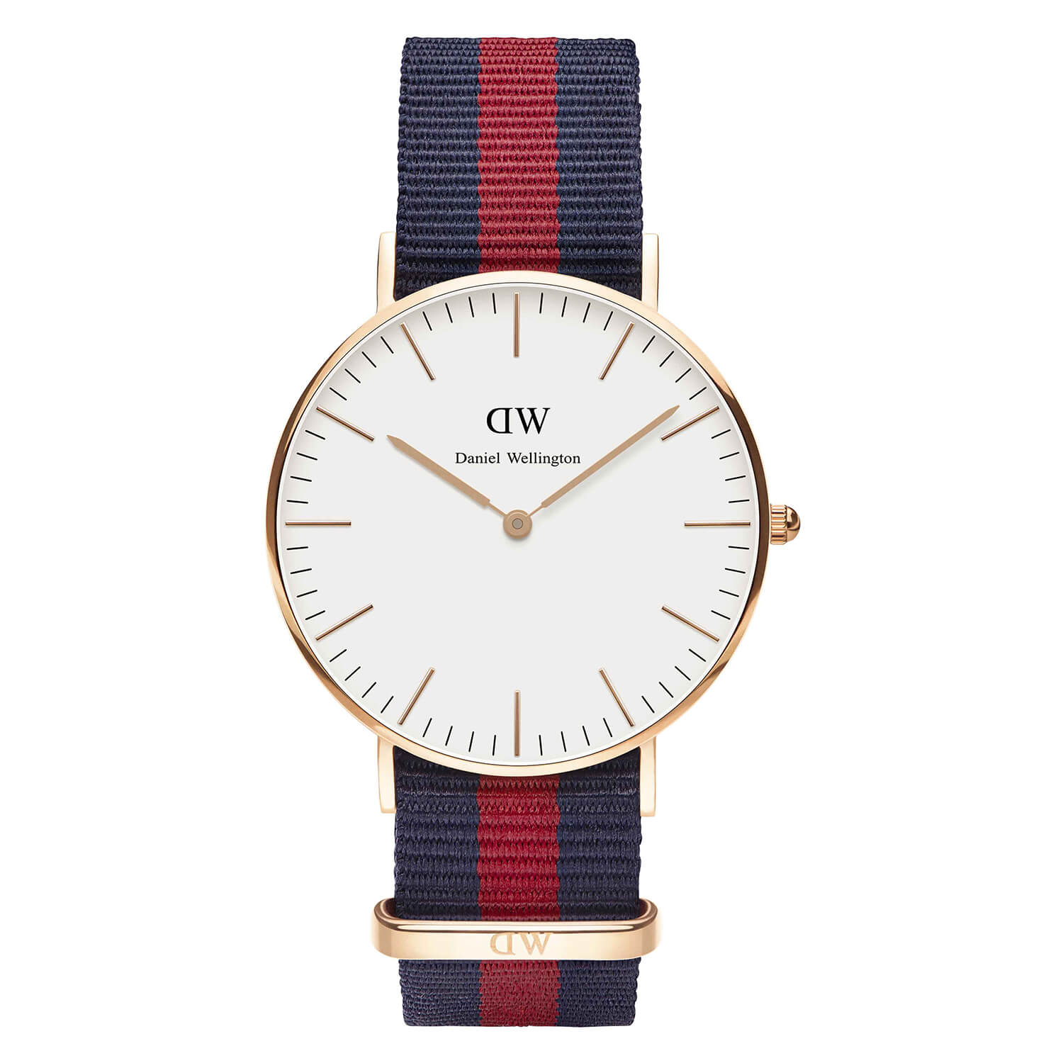 Daniel Wellington Classy Oxford Lady blue and red NATO strap watch