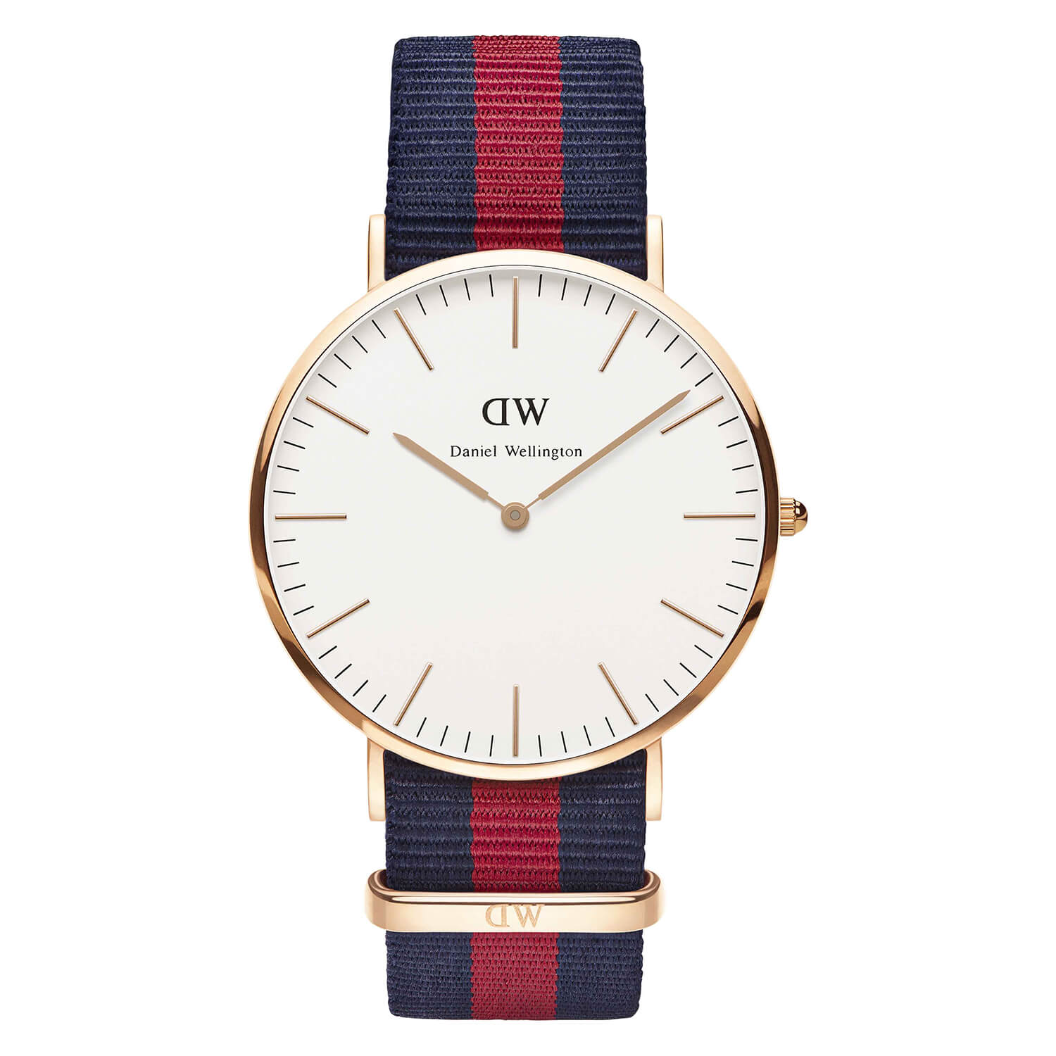 Daniel Wellington Classic Oxford men's rose gold-plated and NATO strap watch