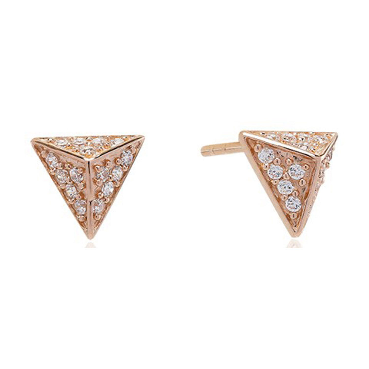 Sif Jakobs Pecetto Piccolo 18ct Rose Gold Plated Cubic Zirconia Stud Earrings