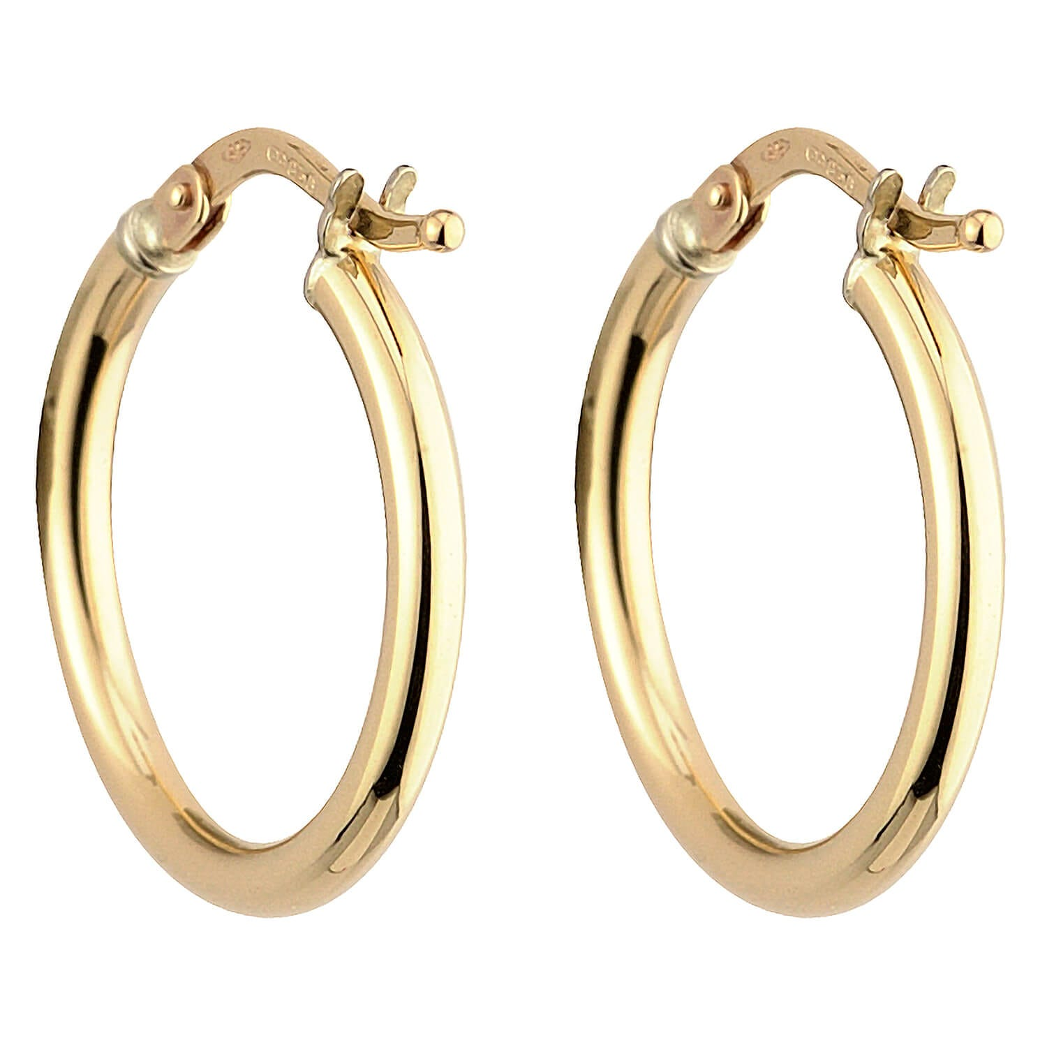 9ct gold small hoop earrings