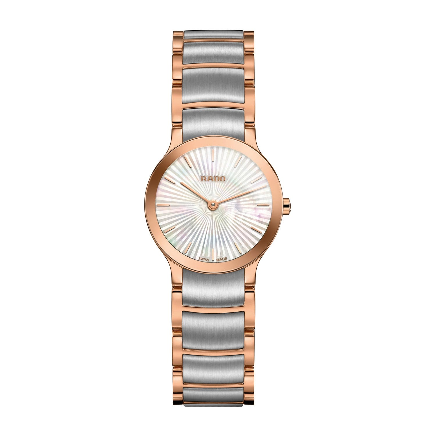 Rado Centrix XS Pearl Dial Two Tone Steel Ladies' Watch