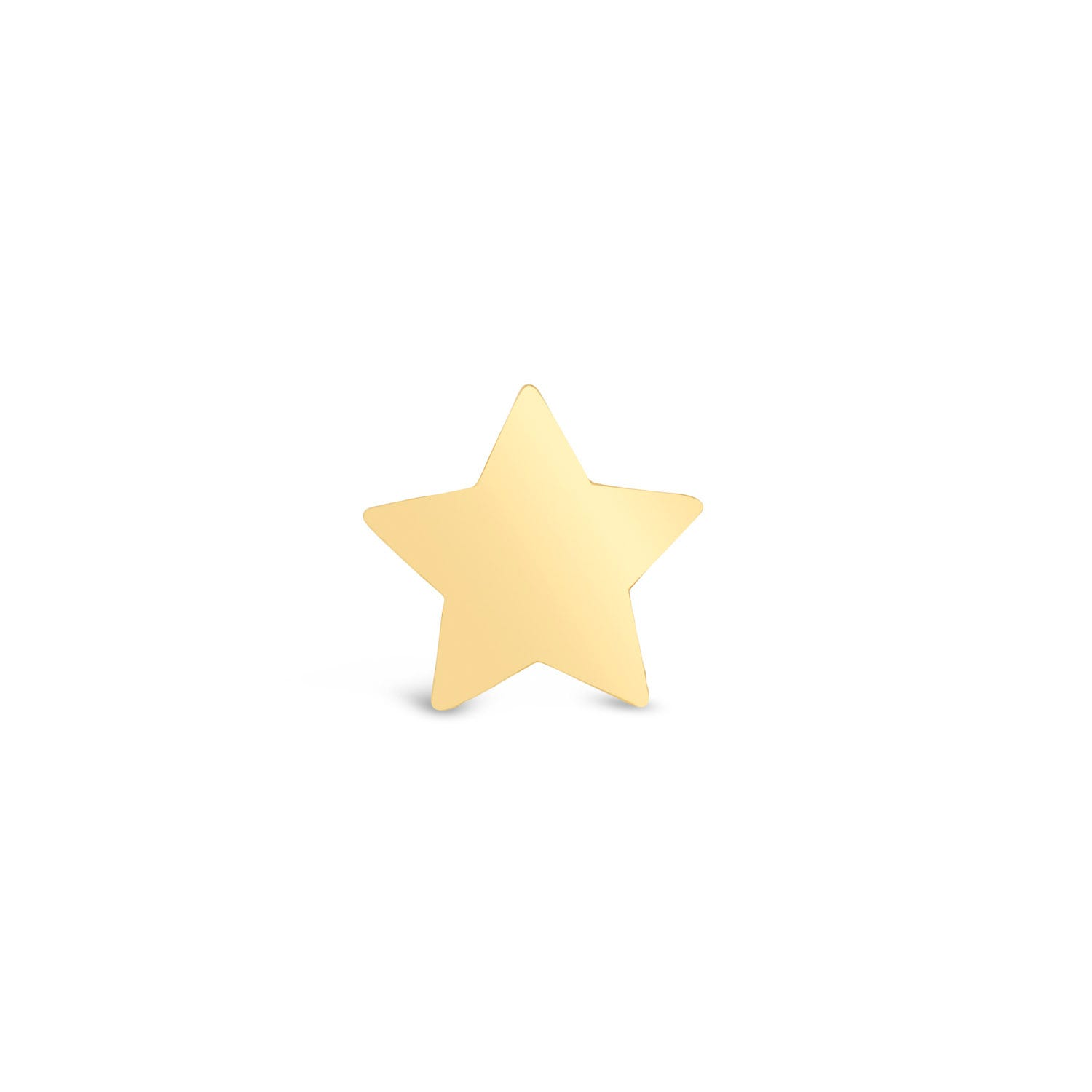 9ct Yellow Gold Plain Star Single Stud Earring
