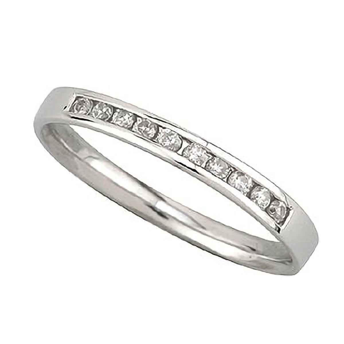 Platinum 0.15 carat diamond ring