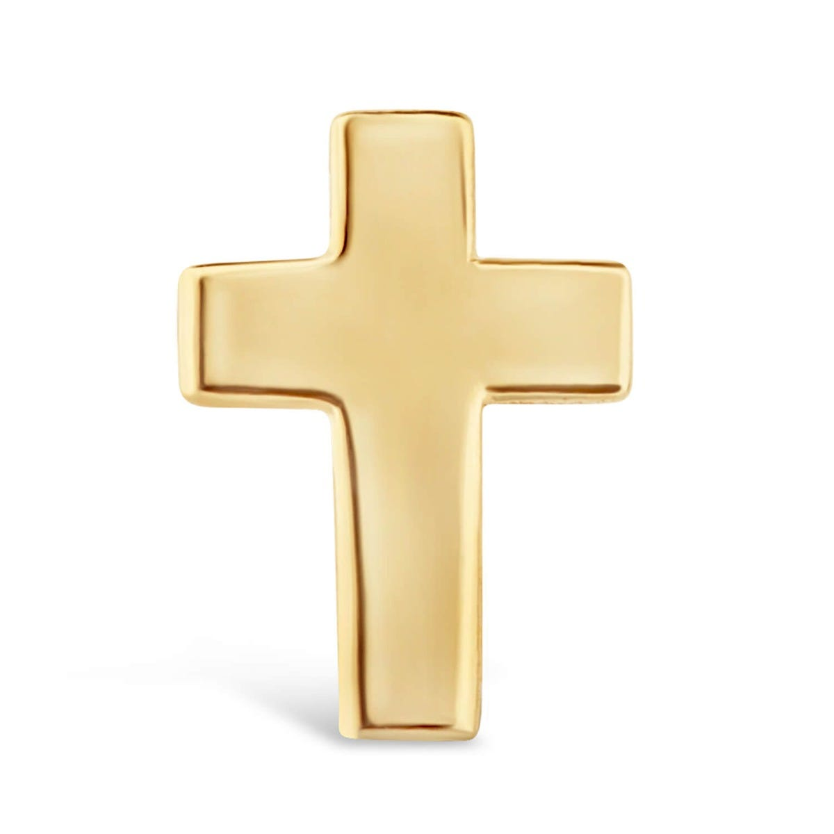 9ct Yellow Gold Cross Single Stud Earring (Special Order)