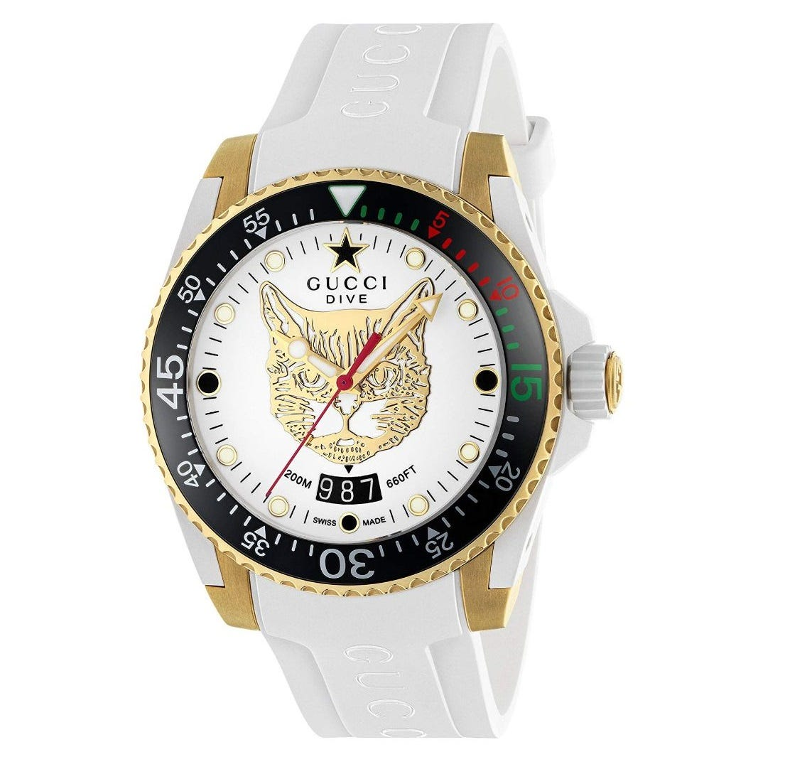 Gucci Dive White Dial 40mm Unisex Watch
