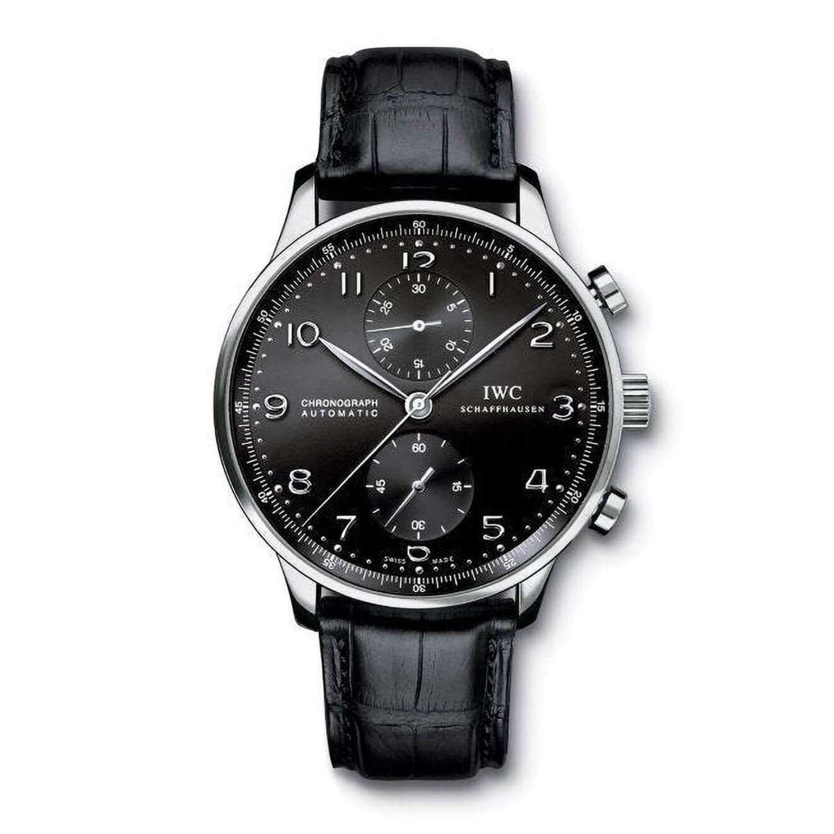 IWC Portugieser Automatic Chronograph Black Dial Men's Watch