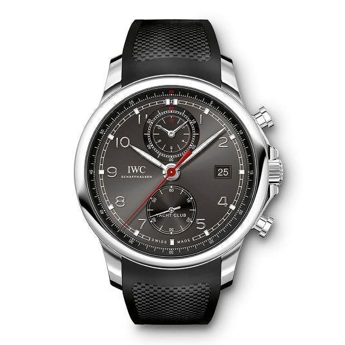 IWC Portugieser Yacht Club men's chronograph rubber strap watch