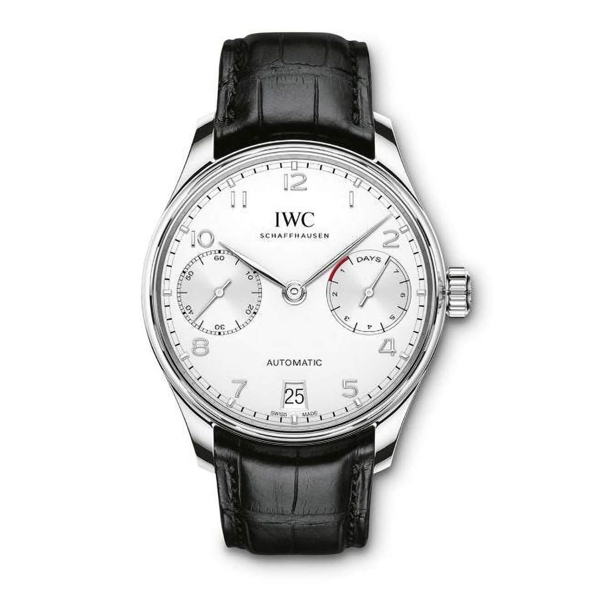 IWC Portugieser Automatic Seven Day Calendar Steel Men's Watch