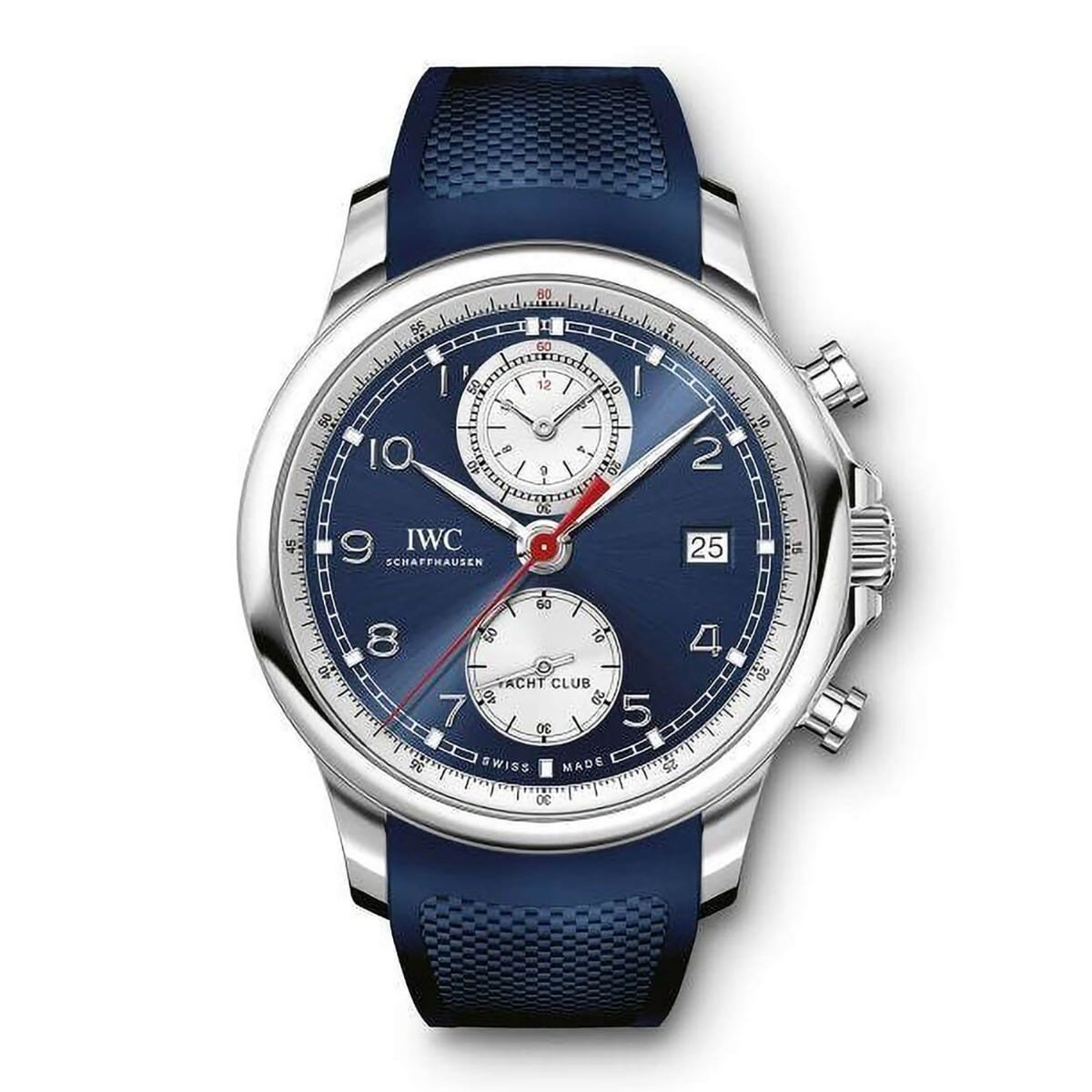 IWC Portugieser Yacht Club Chronograph Blue Rubber Men's Watch