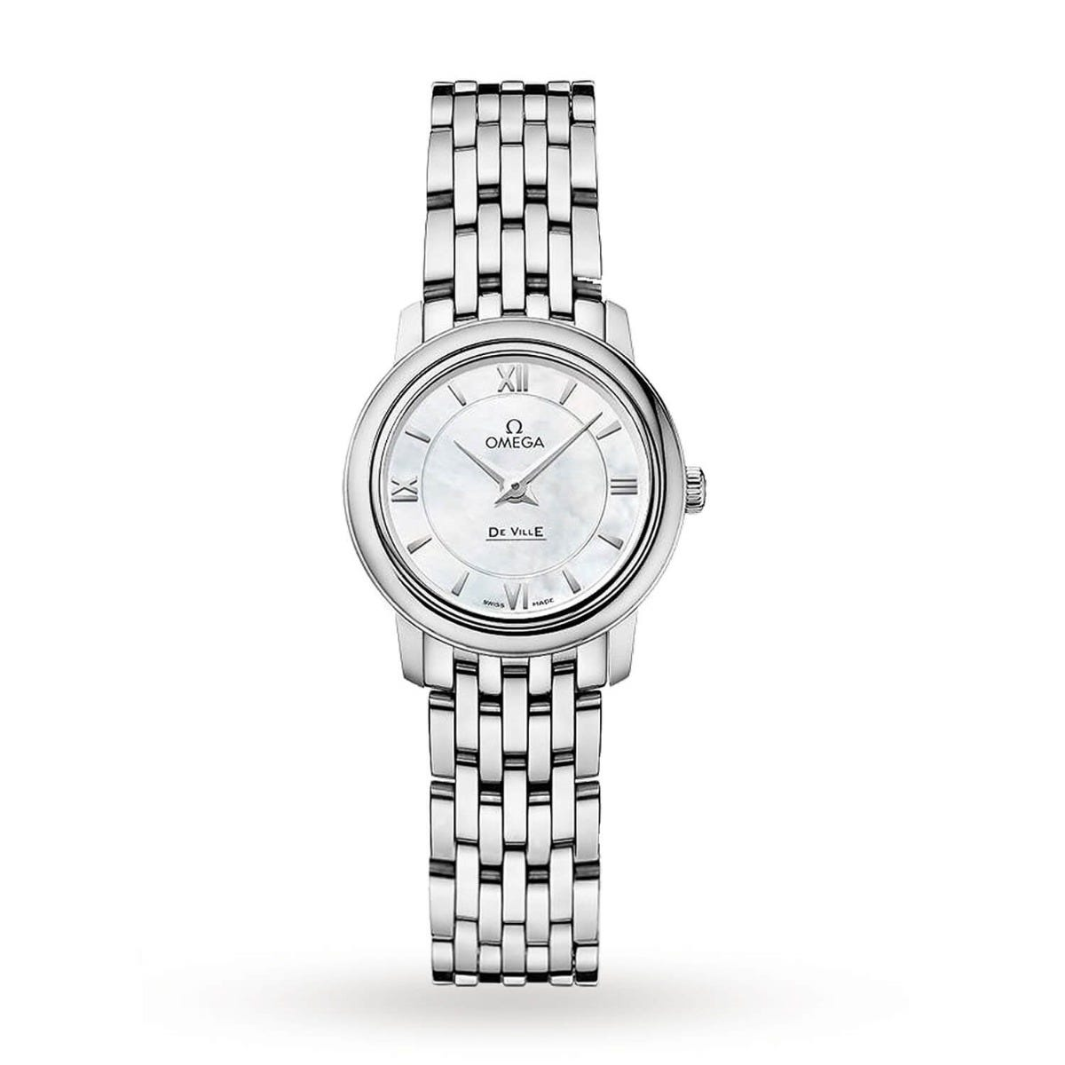 Omega Deville Ladies Quartz 24.4mm Steel Strap Watch
