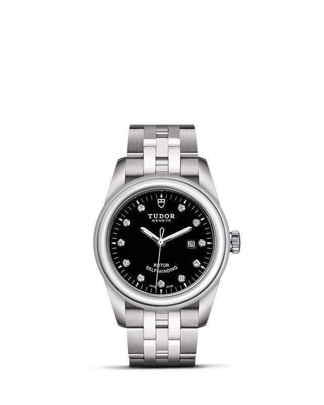 Tudor Glamour Date 31mm Black Dial with Diamond Dial Ladies Watch