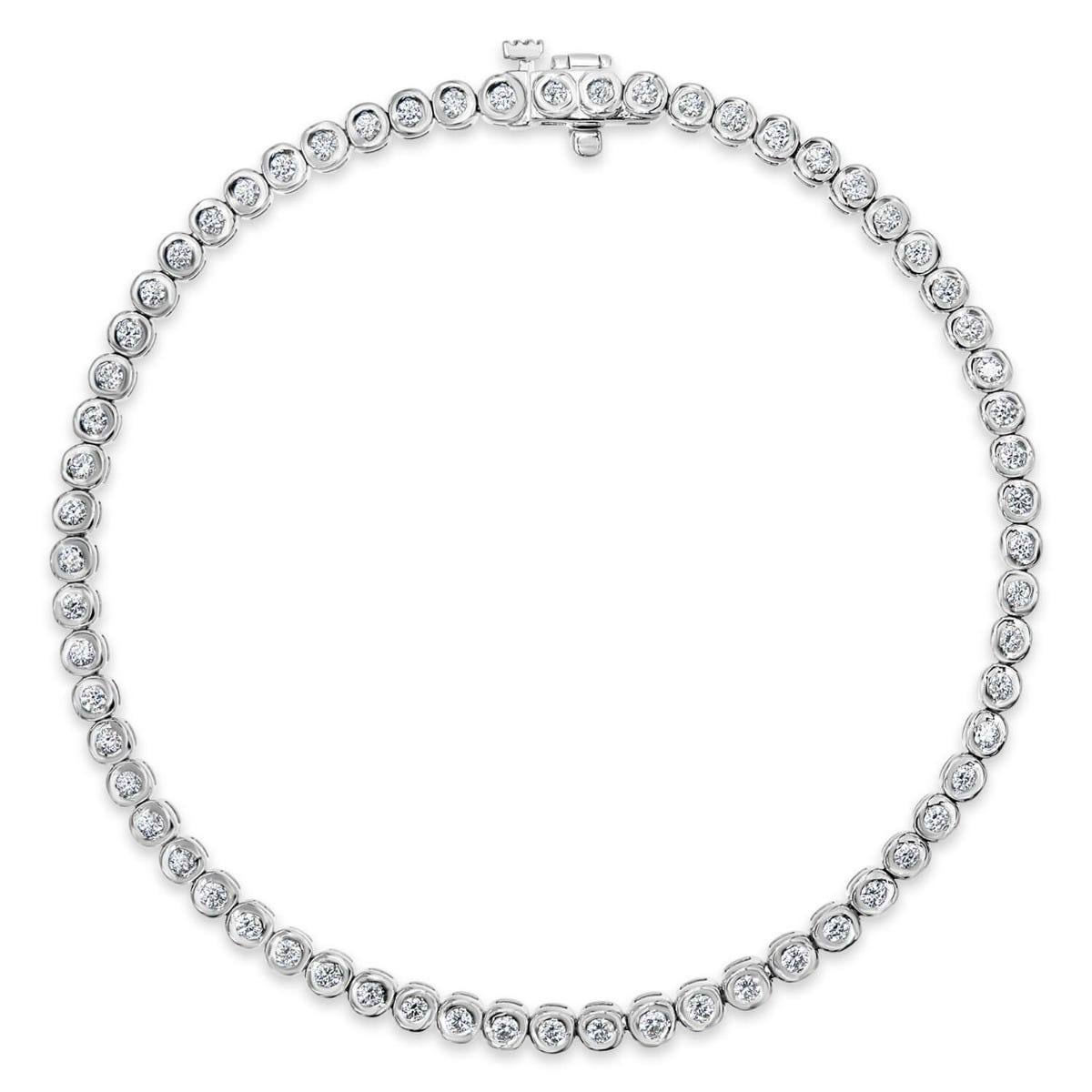 9ct white gold 1.00 carat diamond tennis bracelet