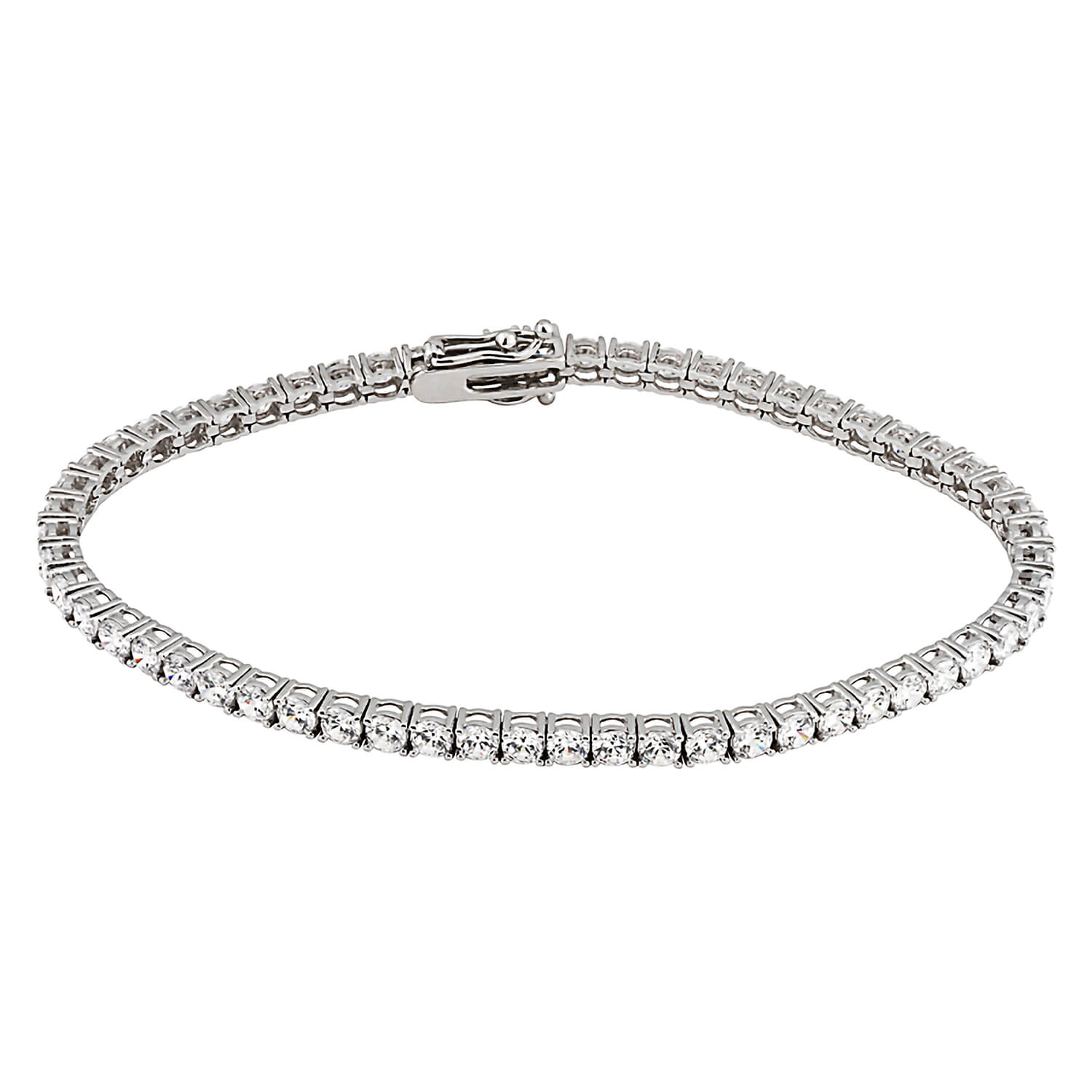 9ct White Gold and Cubic Zirconia Bracelet