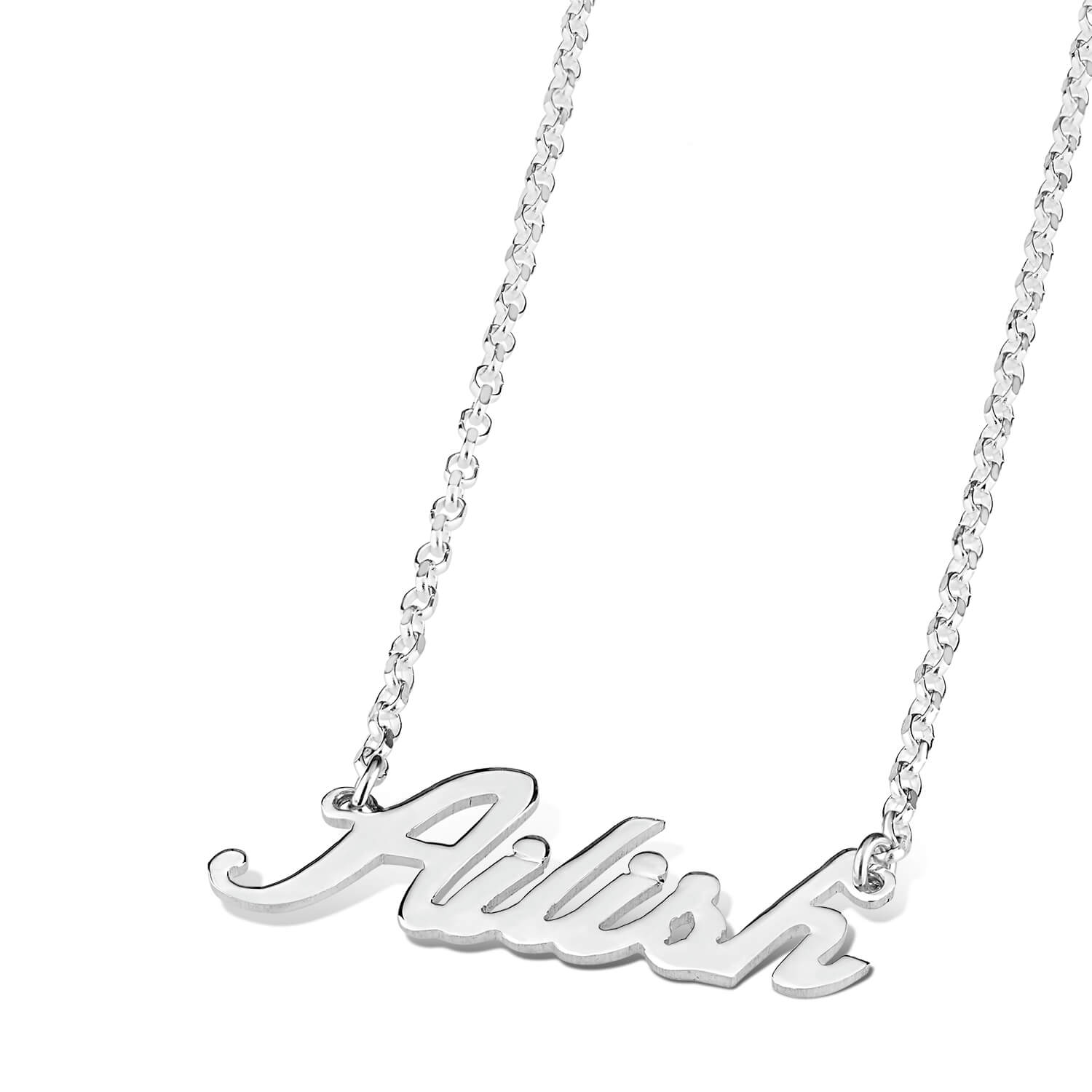 Sterling Silver Personalised Name Necklace (up to 6 letters) (Special Order)