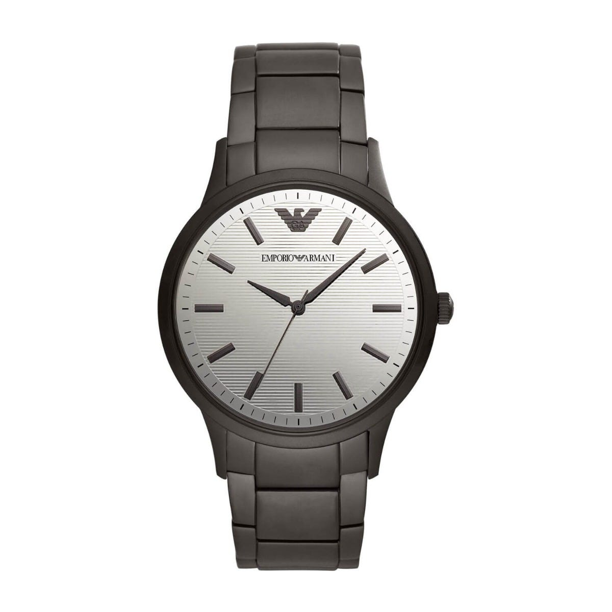 Emporio Armani Black Stainless Steel Quartz Mens Bracelet Watch