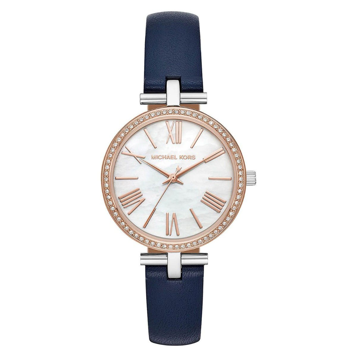 Michael Kors Maci Two-Tone and Blue Leather Ladies Watch