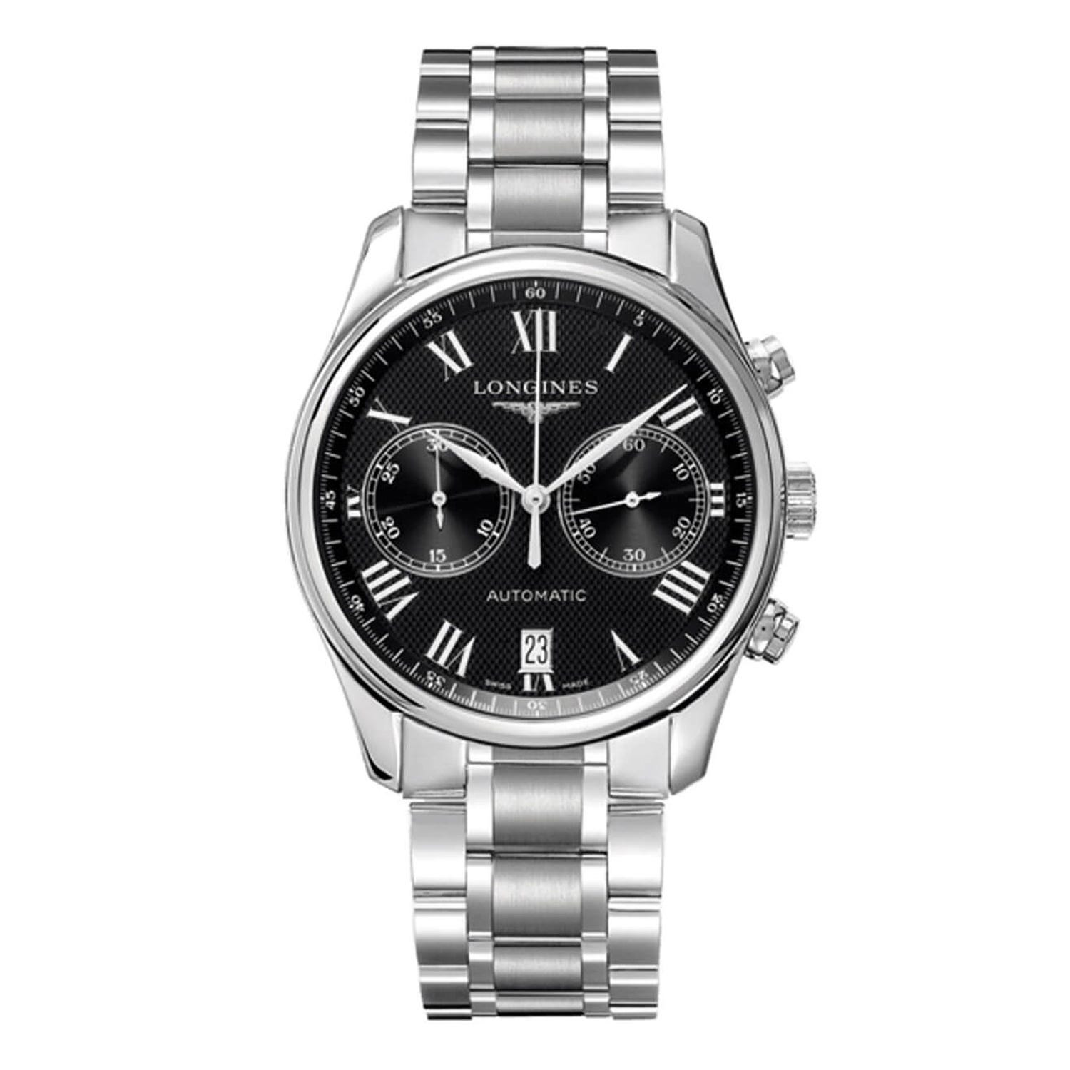 Longines Master Collection men's stainless steel chronograph watch