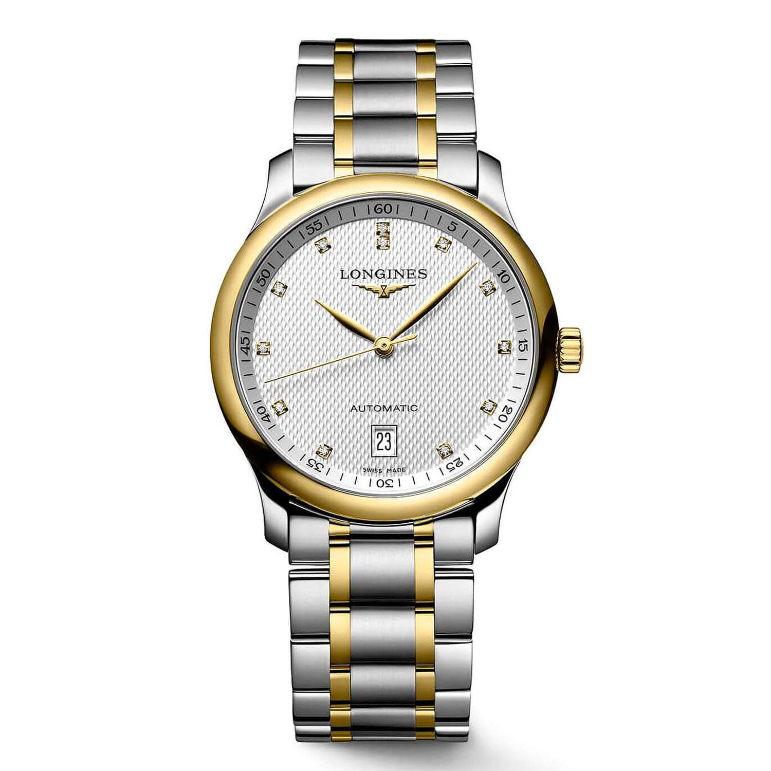 Longines Master Collection automatic men's diamond-set 18ct gold and Stainless Steel watch