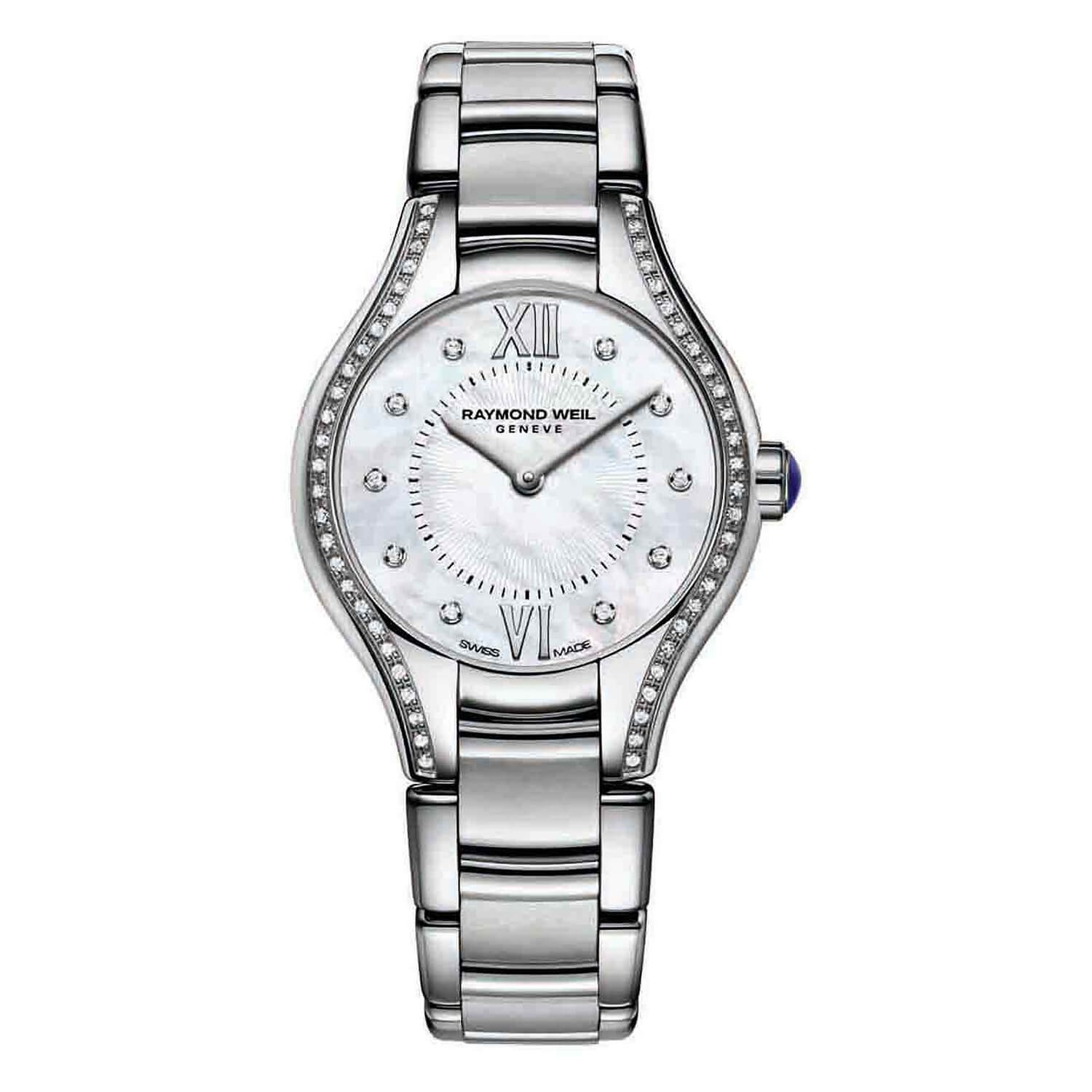 Raymond Weil Noemia ladies' diamond-set stainless steel bracelet watch