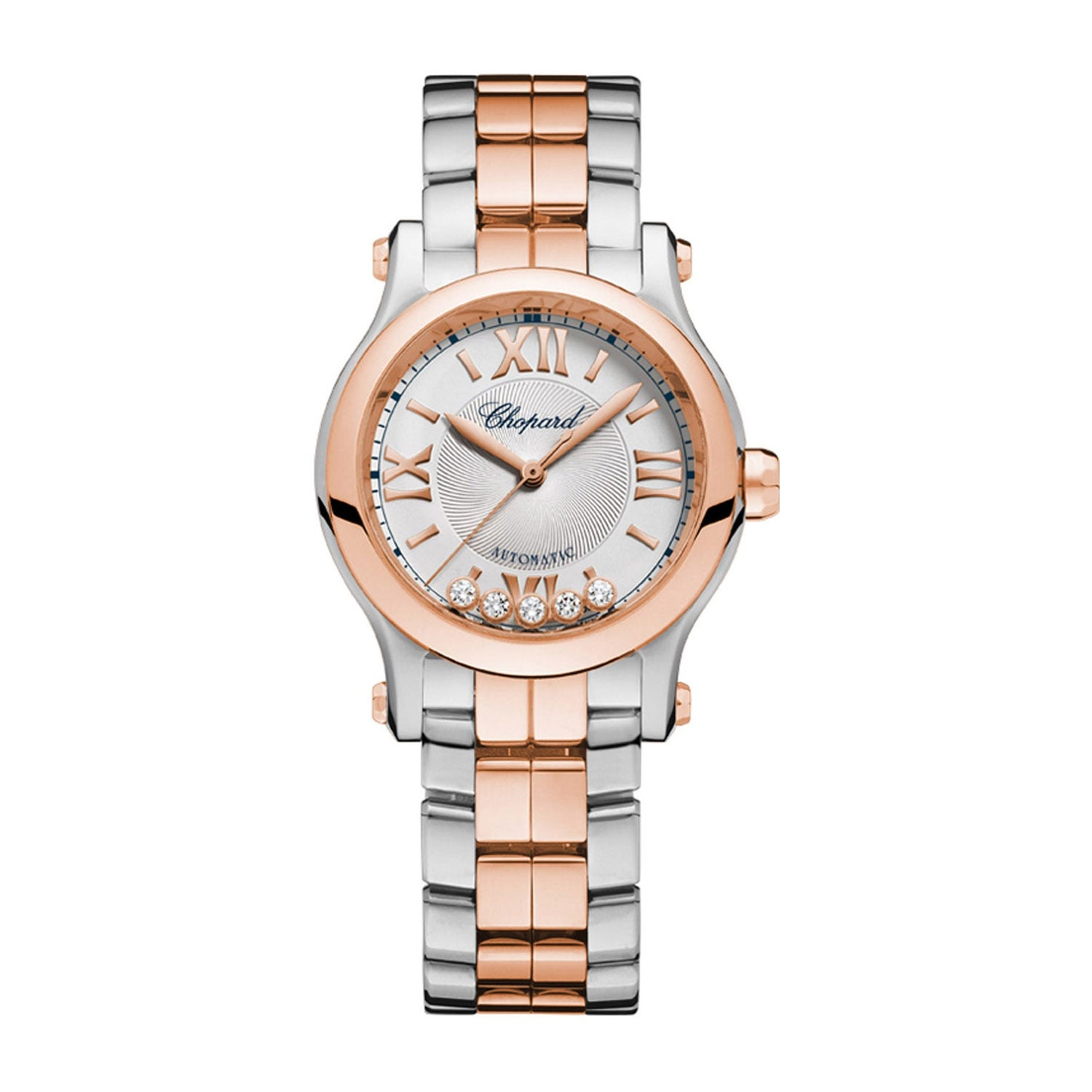 Chopard Happy Sport Ladies Rose Gold & Stainless Steel Automatic Watch