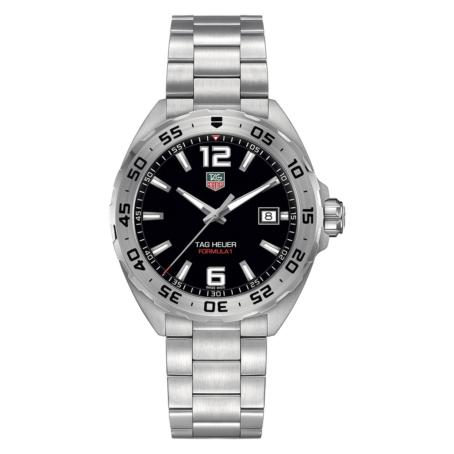 TAG Heuer Formula 1 men's black dial stainless steel bracelet watch