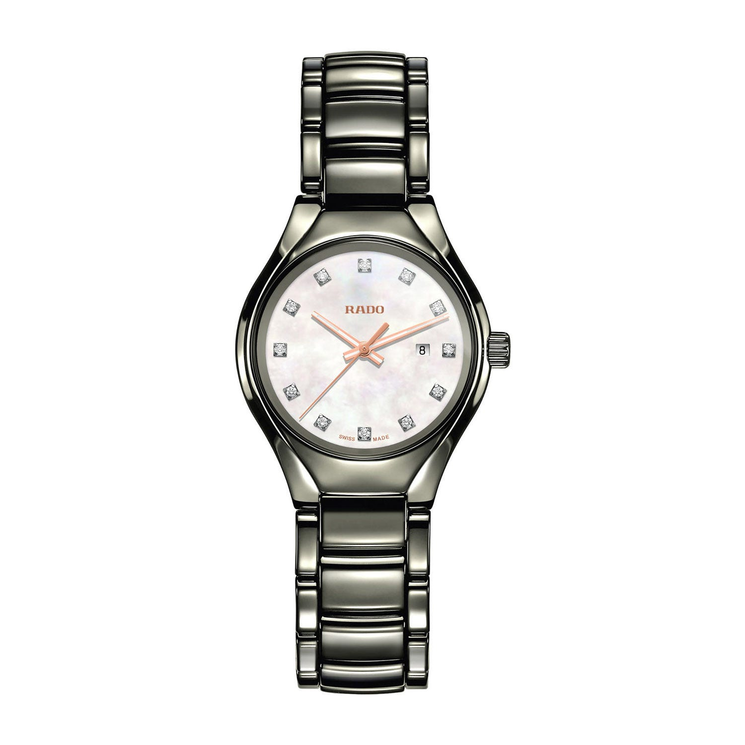 Rado True ladies' diamond ceramic bracelet watch