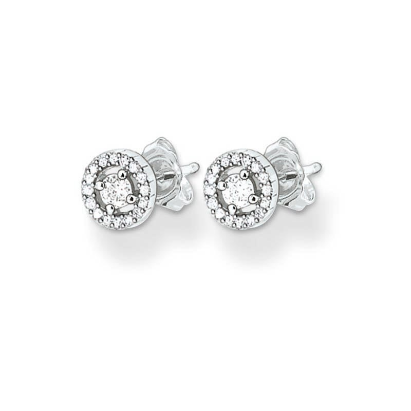 Thomas Sabo Light of Luna silver cubic zirconia stud earrings