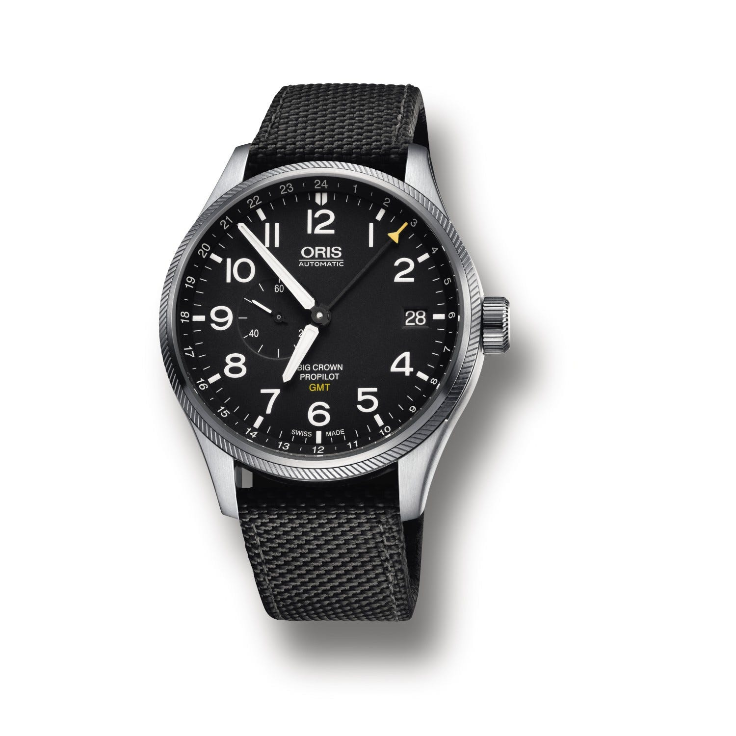 Oris Big Crown ProPilot men's automatic black strap watch