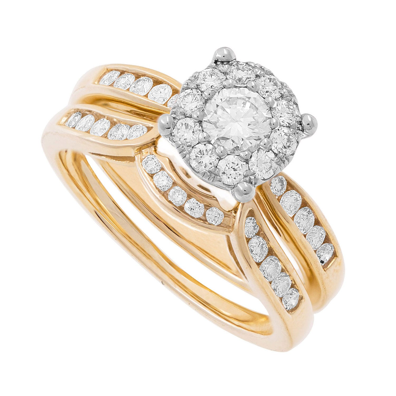 Starburst Collection ladies 9ct gold 0.50 carat diamond bridal set