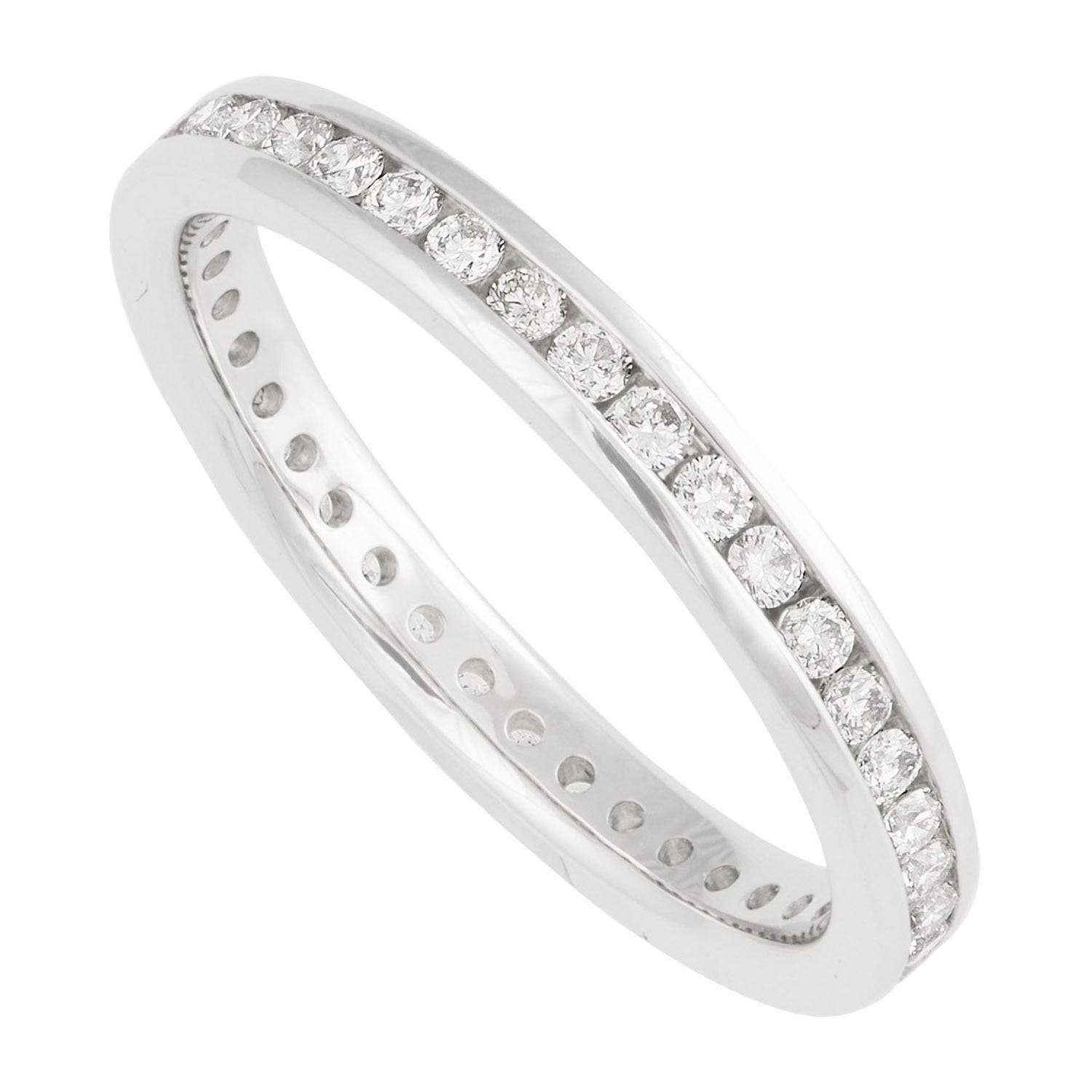 Platinum 0.50 carat diamond full eternity ring