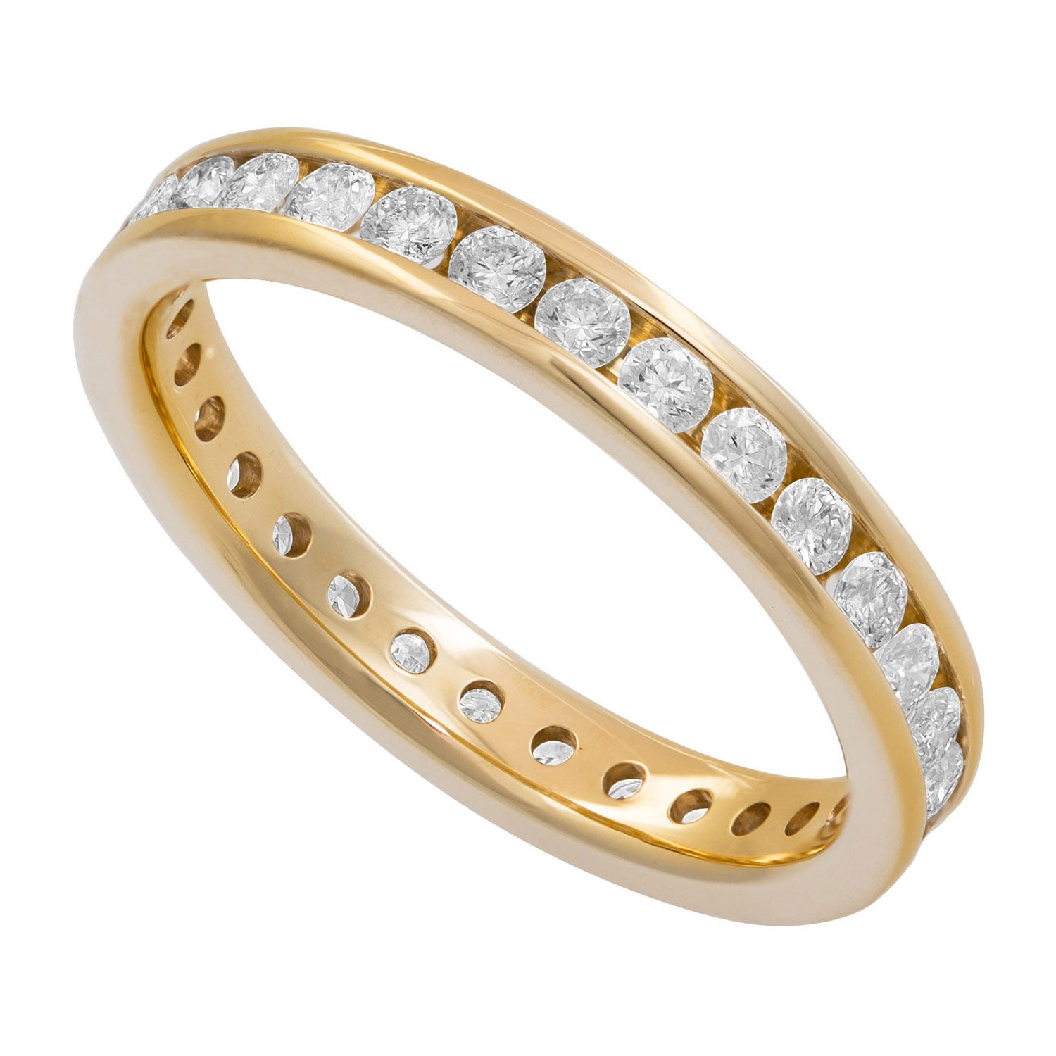 18ct Gold Ladies 0.75ct Diamond Full Eternity Channel-Set Ring
