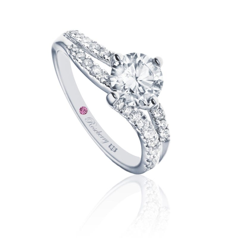 Roseberry Chloe 18ct white gold 0.76 carat diamond solitaire engagement ring