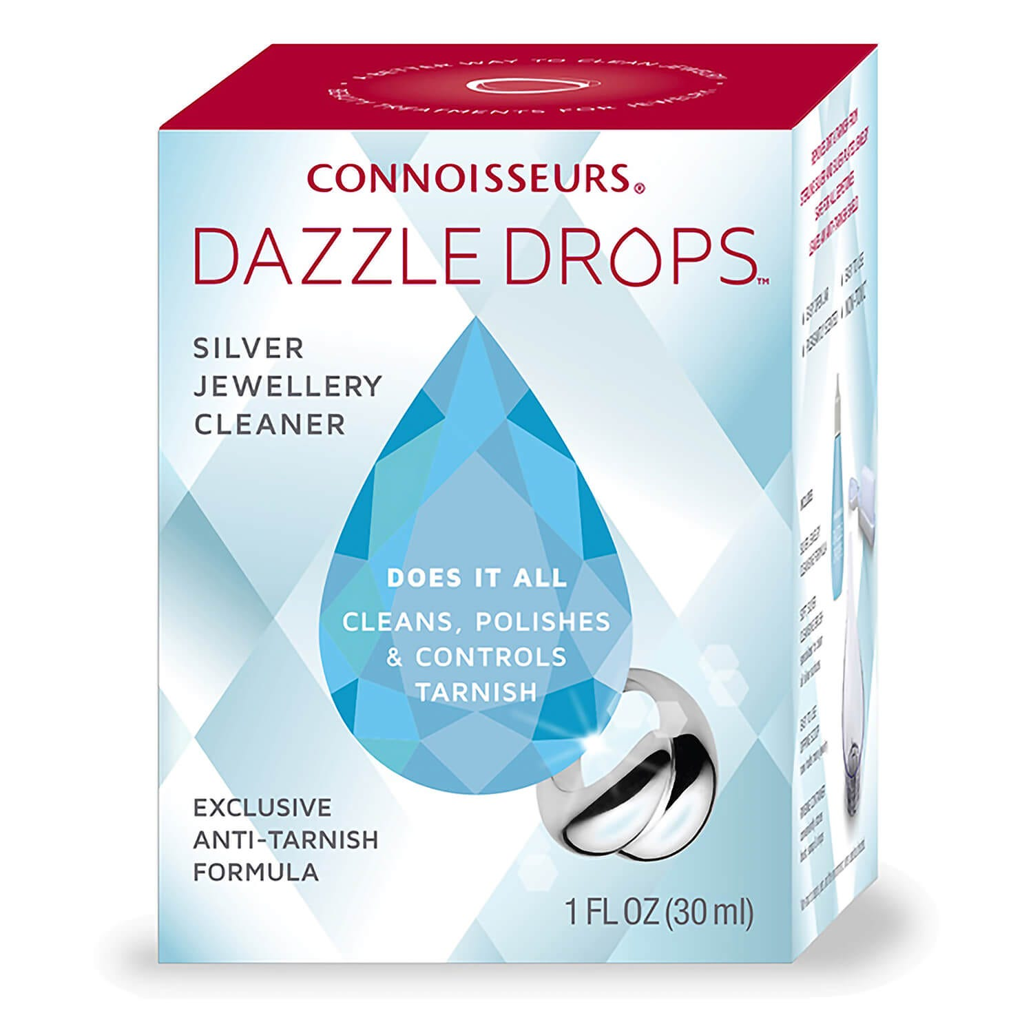 Connoisseurs Dazzle Drops Silver Jewellery Cleaner