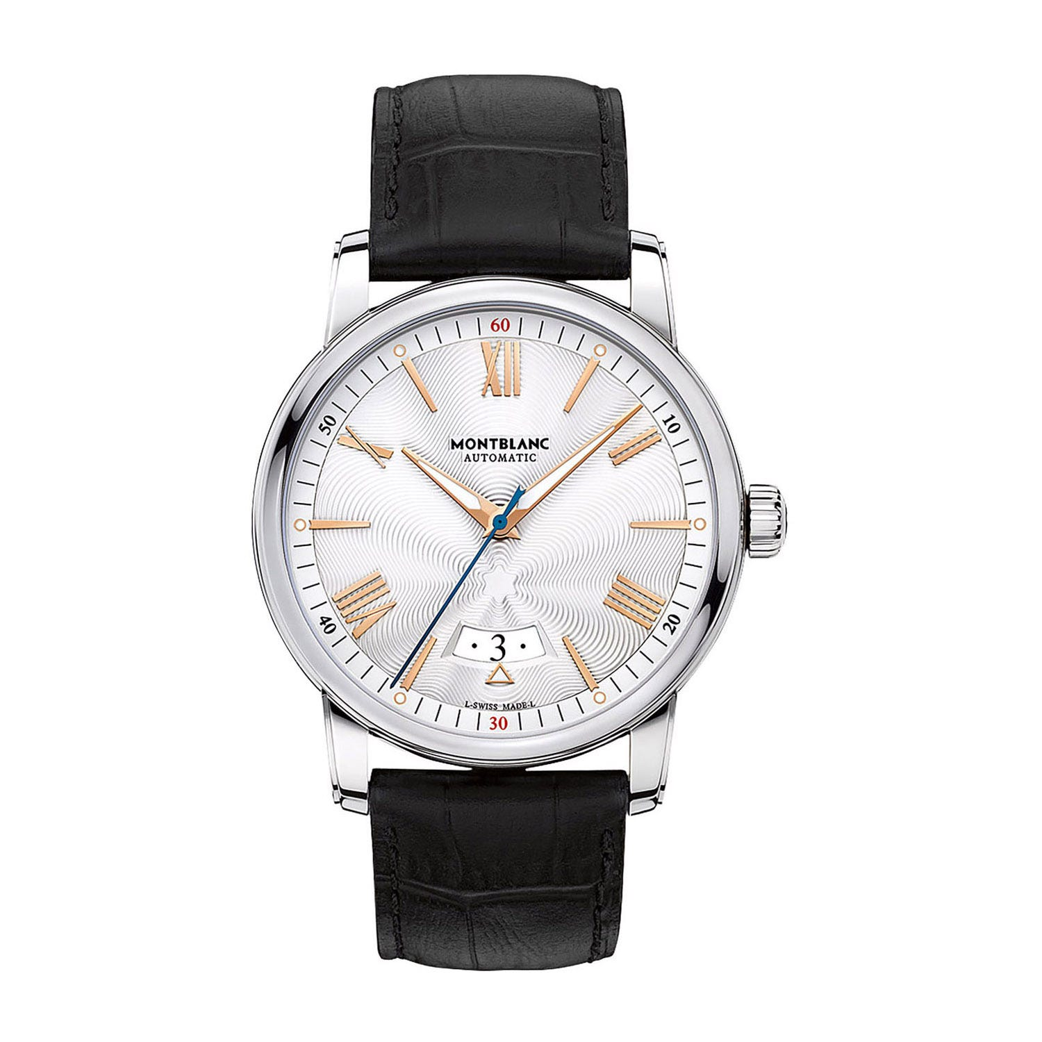 Montblanc Star 4810 Date Automatic men's rose gold-tone and black leather strap watch