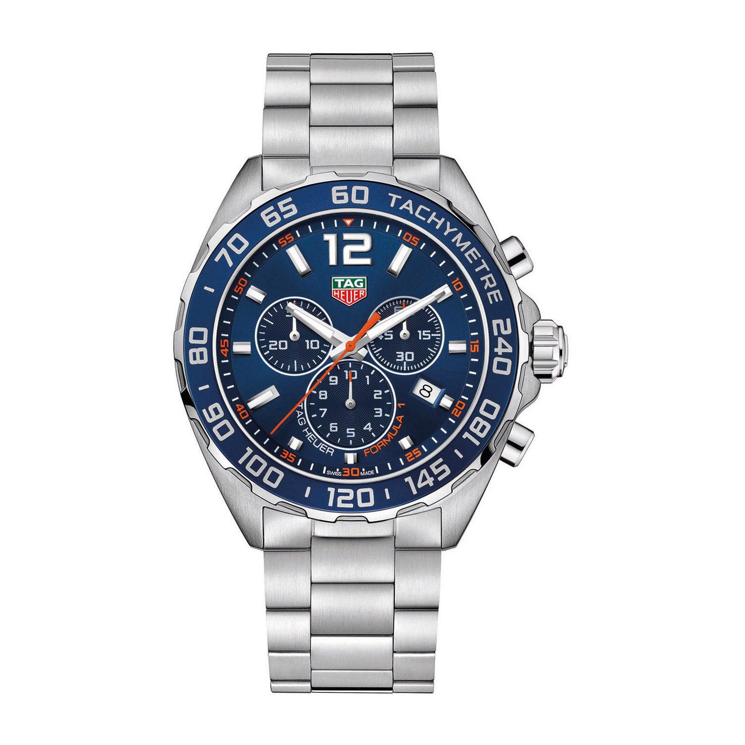 TAG Heuer Formula 1 Chronograph men's blue dial stainless steel watch