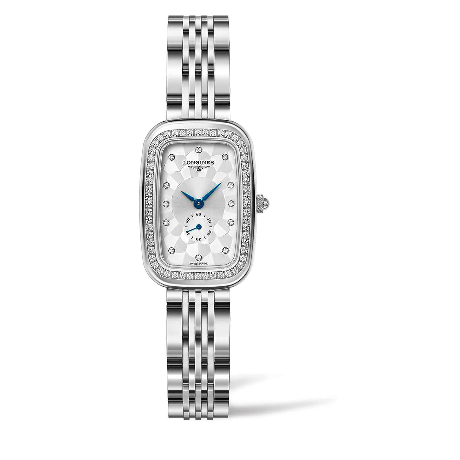 Longines Equestrian Ladies' Silver Diamond Dot Dial Stainless Steel Watch