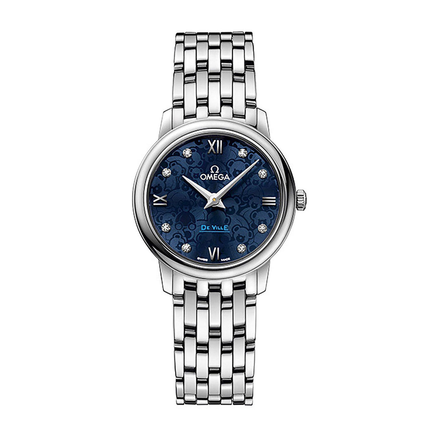 Omega De Ville Prestige Orbis ladies' diamond dot stainless steel watch