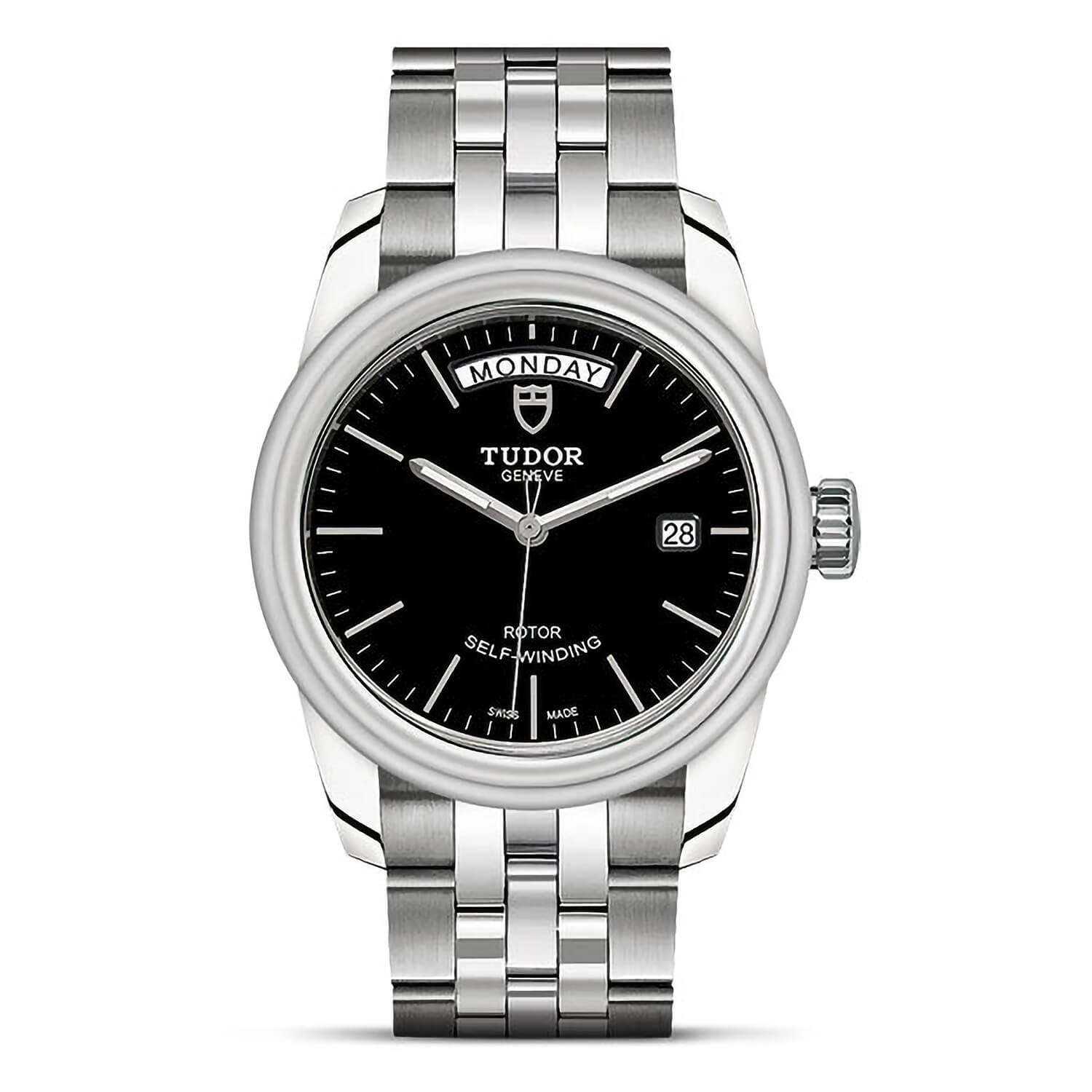 Tudor Glamour Date-Day 39mm Black Dial Ladies Watch