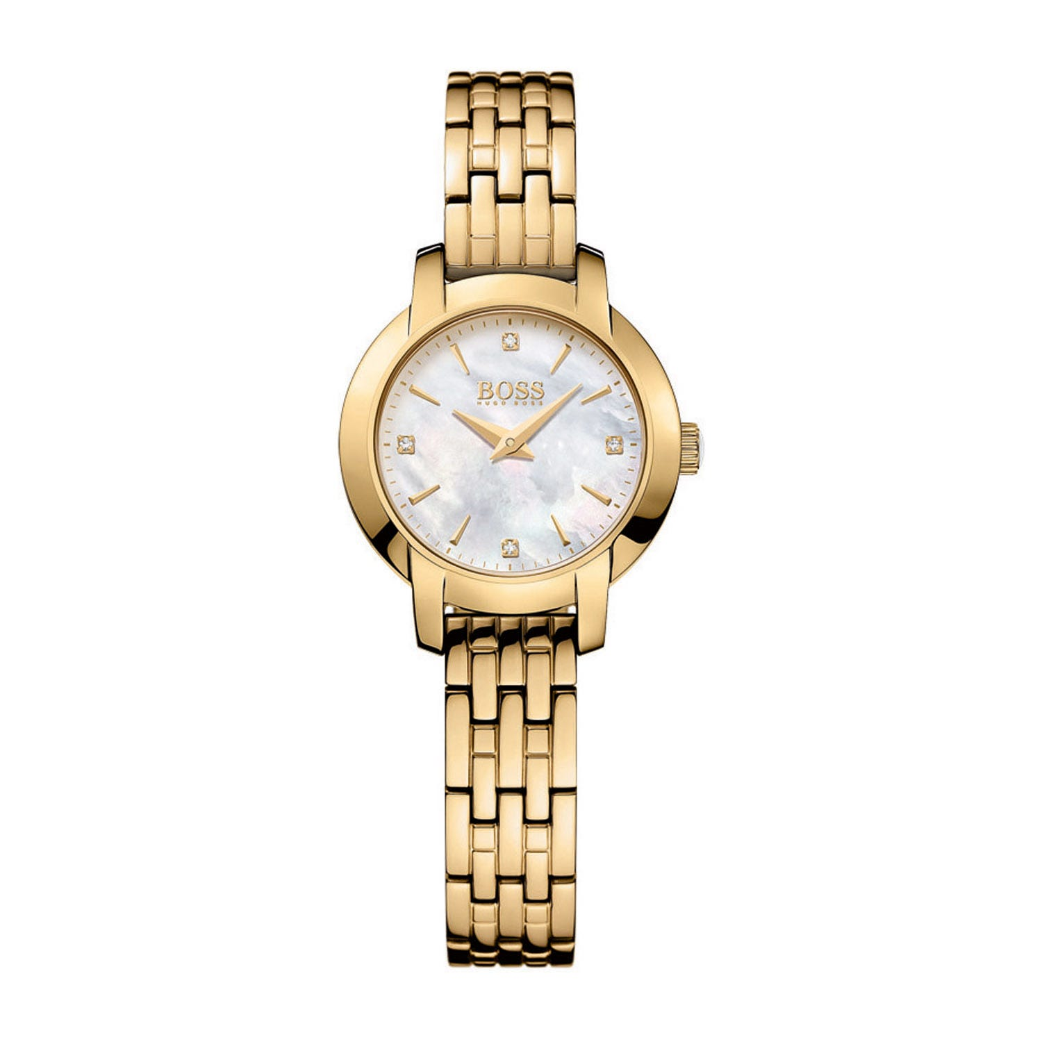 Hugo Boss Success ladies' stone-set gold-tone watch
