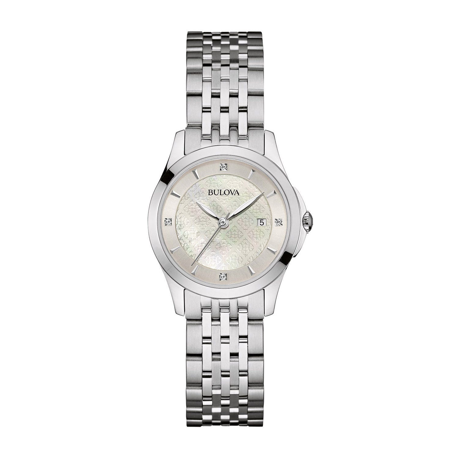 Bulova Diamonds ladies' stainless steel watch