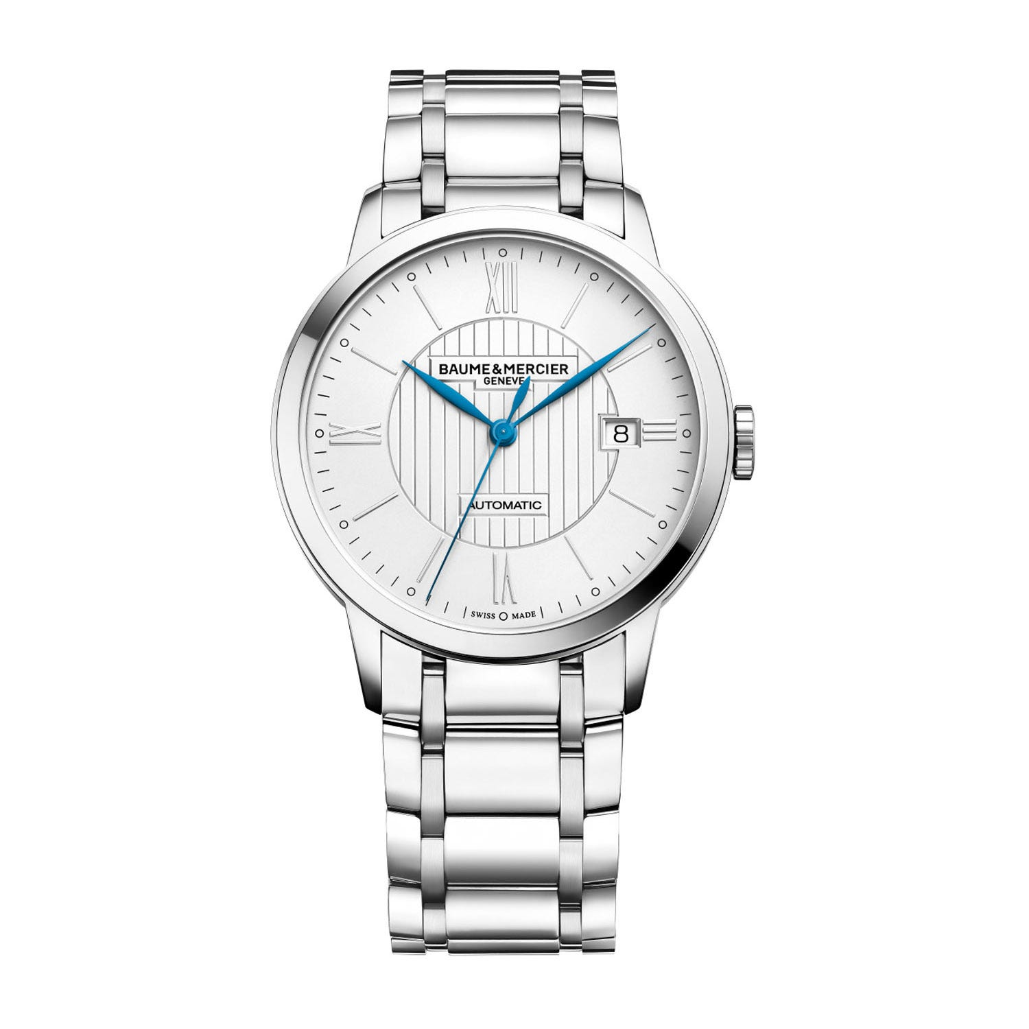 Baume & Mercier Classima Men's Silver Dial Stainless Steel Bracelet Watch