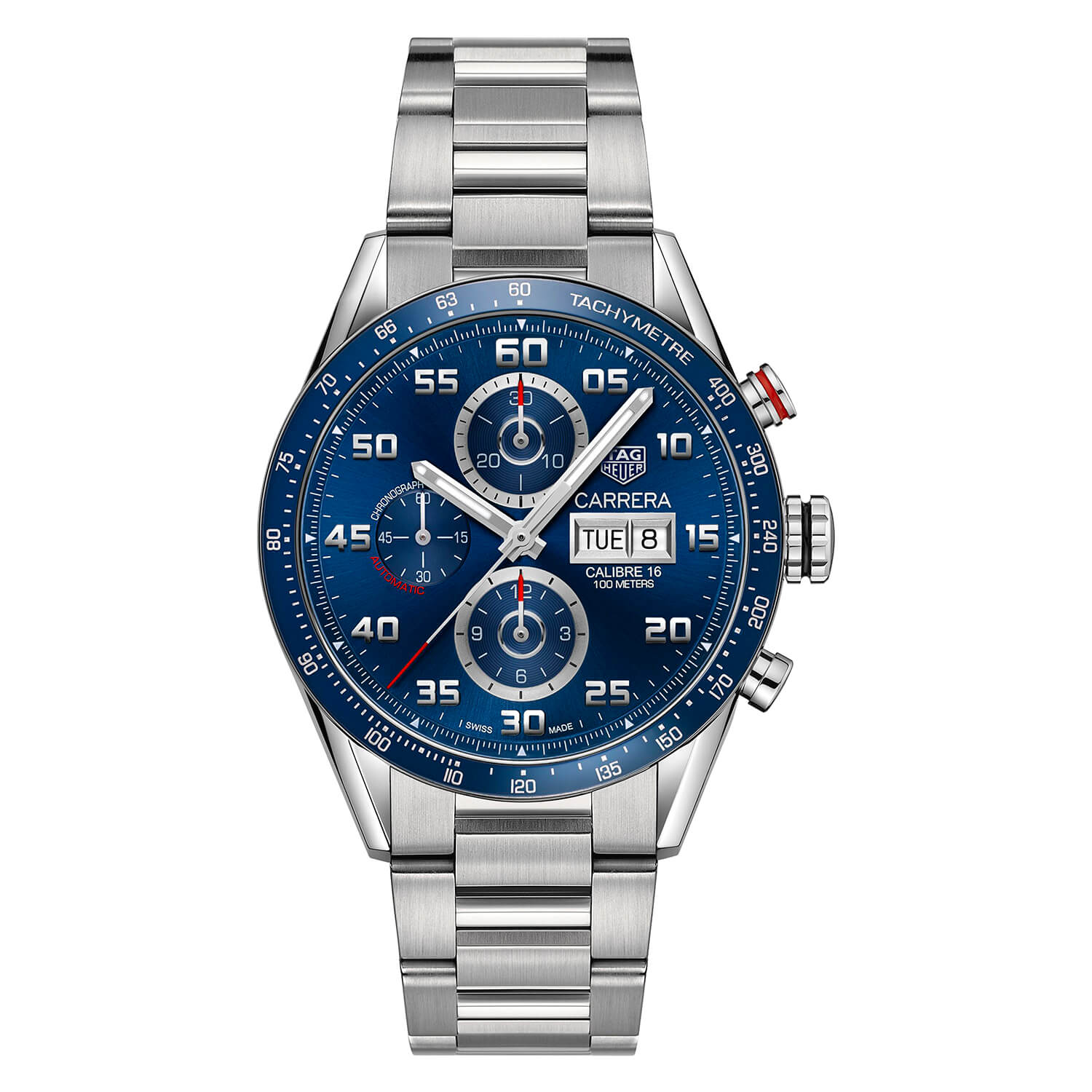 TAG Heuer Carrera Chronigraph Automatic Blue Dial Men's Watch