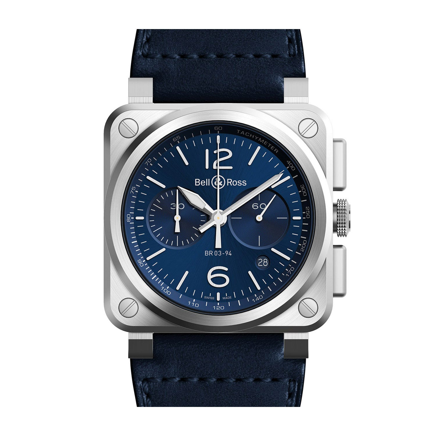 Bell & Ross Aviation Blue Dial Automatic Men's Leather Watch